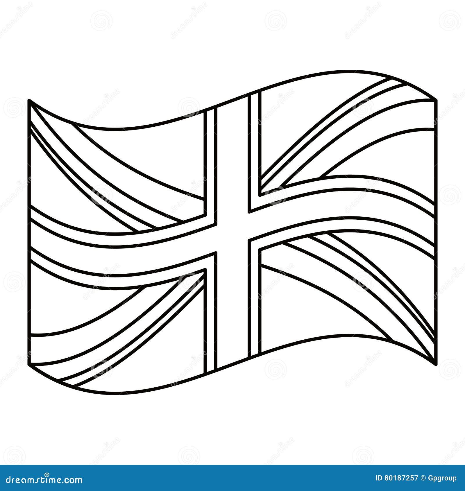 Download Isolated United Kingdom Flag Design Stock Illustration