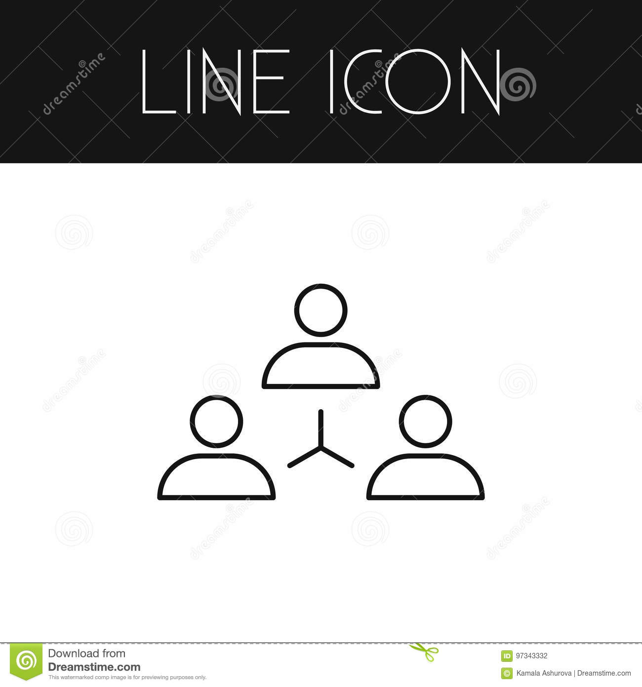 Isolated Unity Outline  Networking Vector Element Can Be Used For