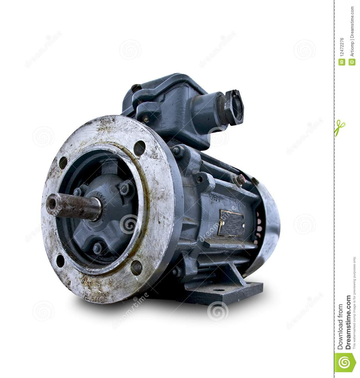Isolated Used Electric Motor Royalty Free Stock Image