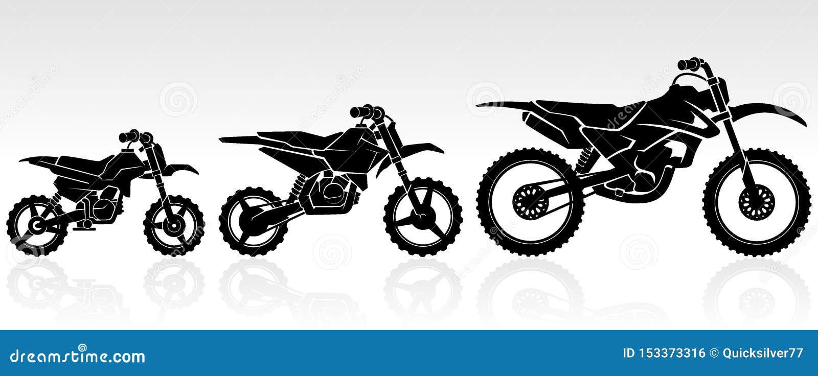 Kids Motocross Bike Set Stock Vector Illustration Of Large 153373316