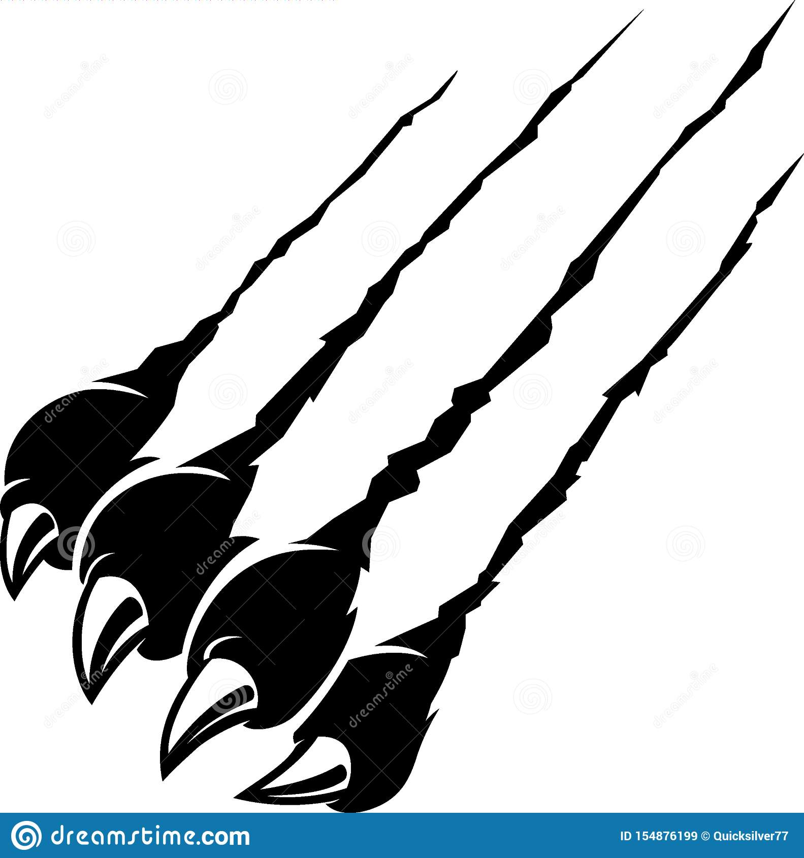 Rip Claw Black Panther Stock Vector Illustration Of Ripping 154876199