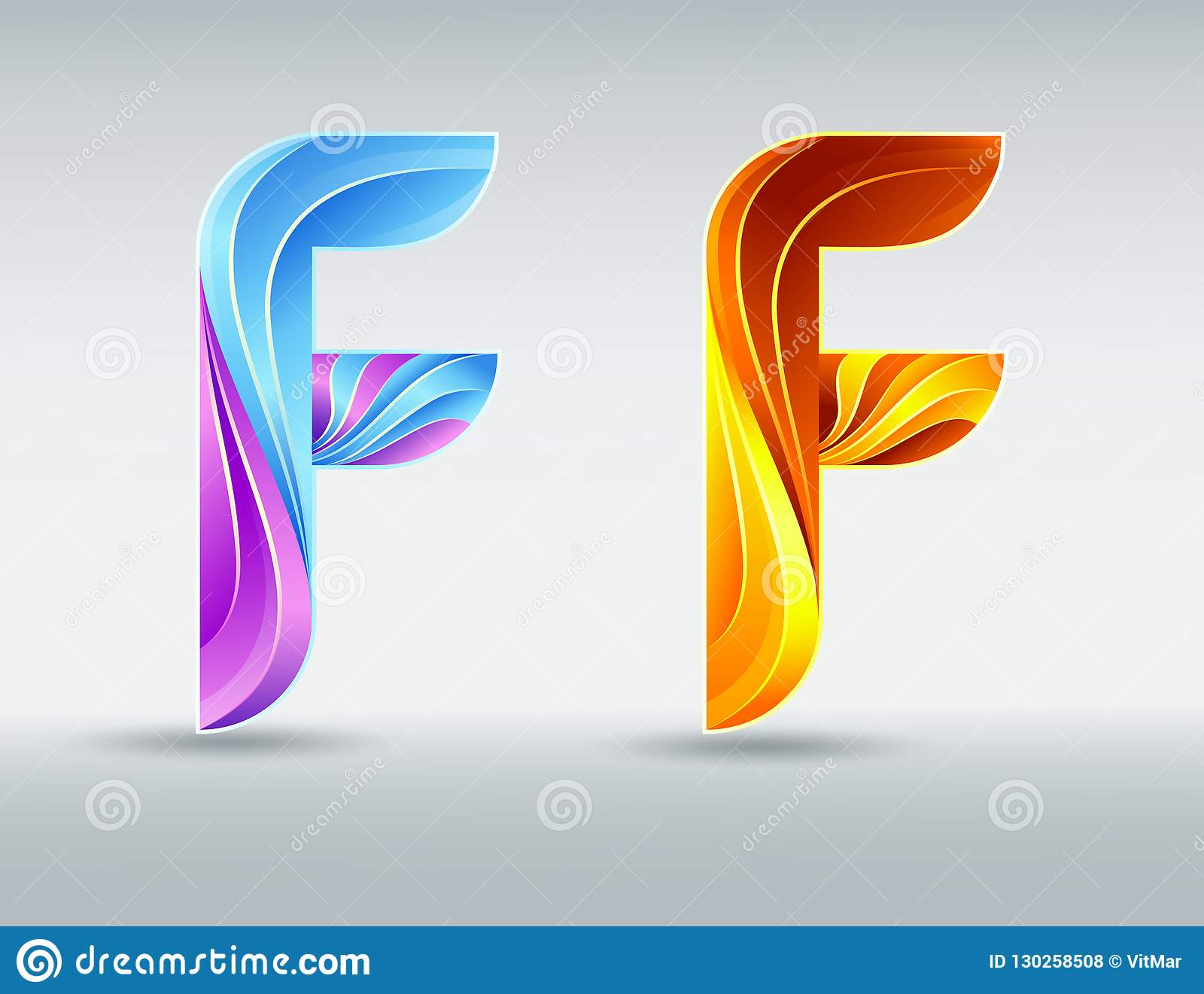 Fonts Logo  Creative Twisted Letter F  Abstract 3D Font  Caramel And