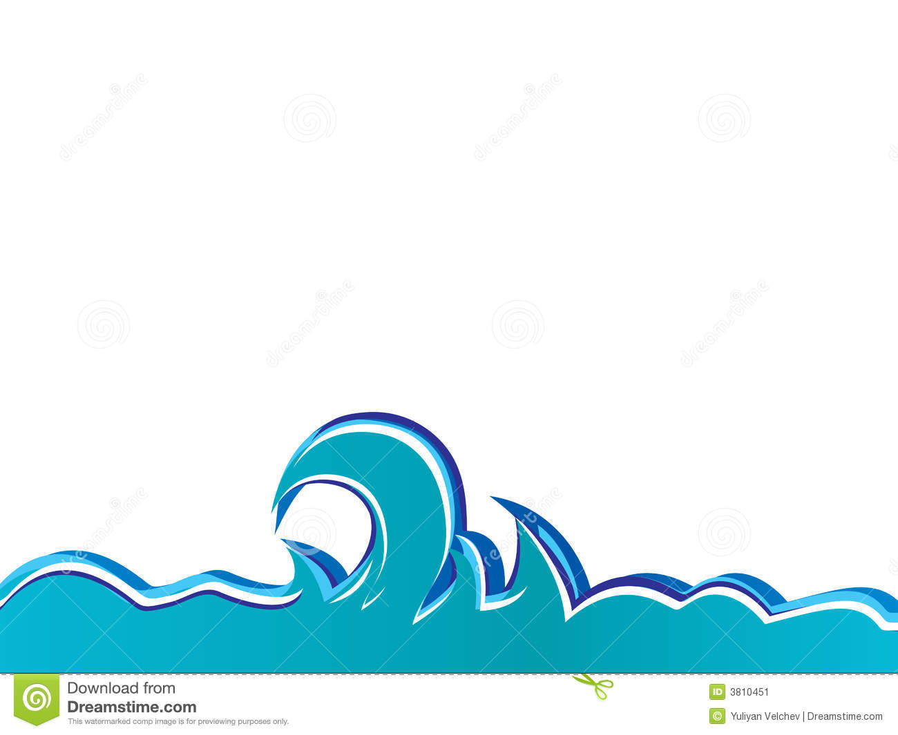 Isolated Vector Waves Stock Image - Image: 3810451