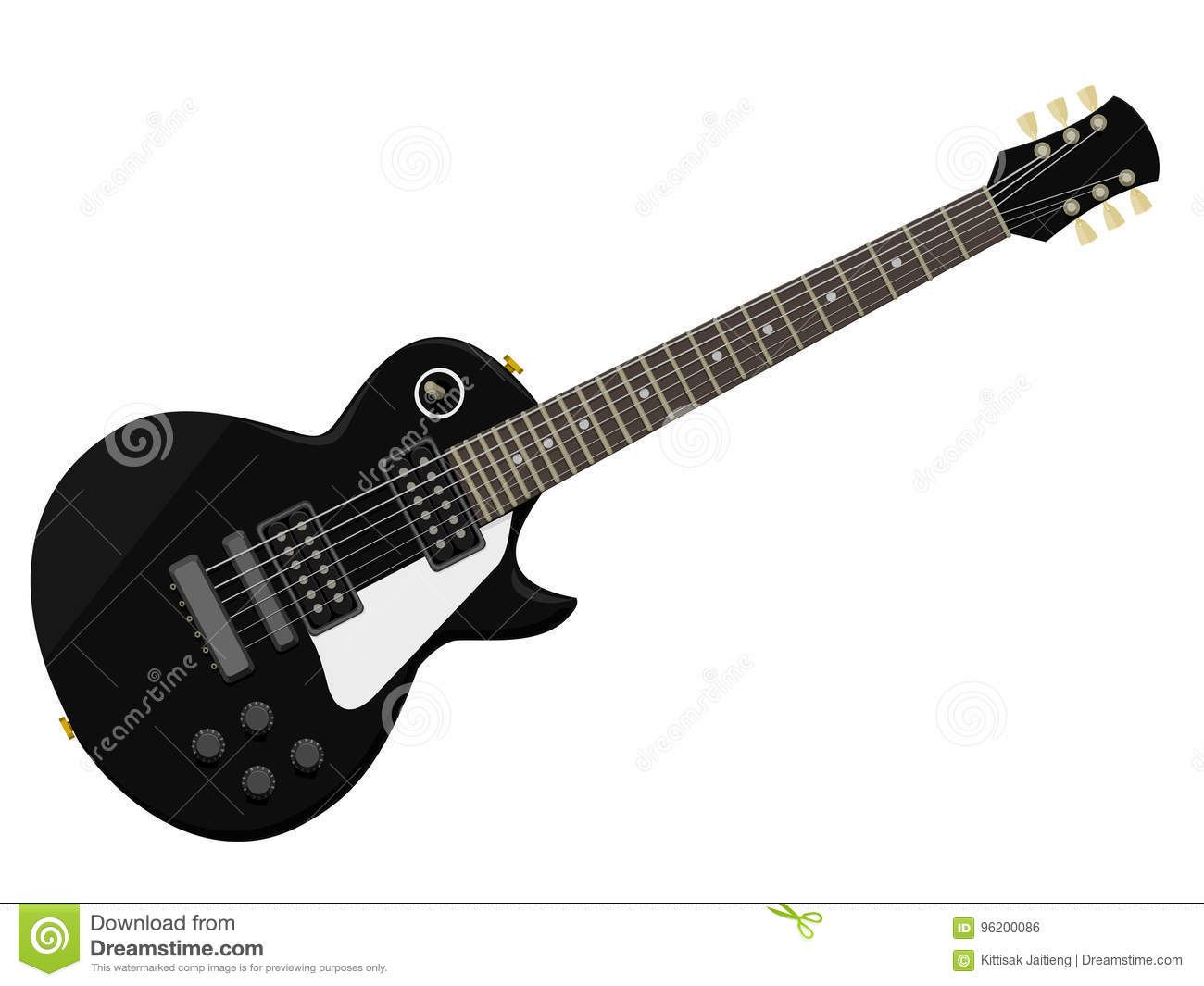 Isolated Vintage Electric Guitar Stock Vector Illustration Of Info