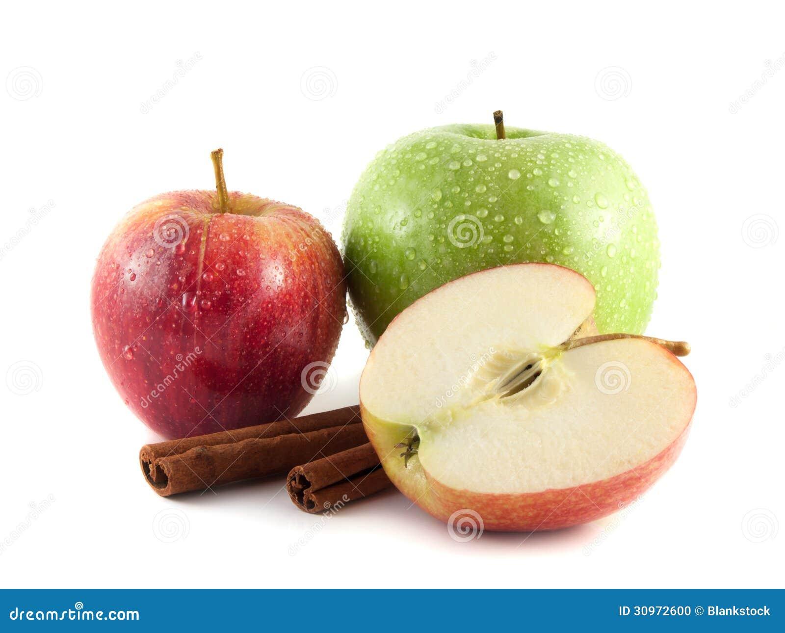 how to break apple in half