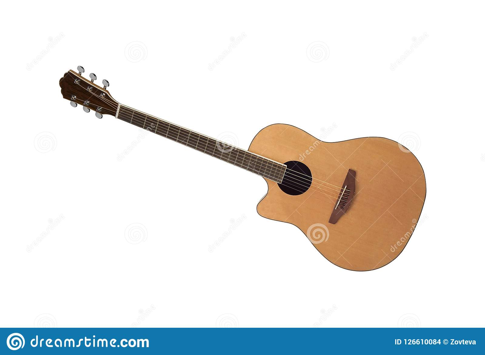 Isolated On White Acoustic Guitar Stock Photo Image Of Band Group