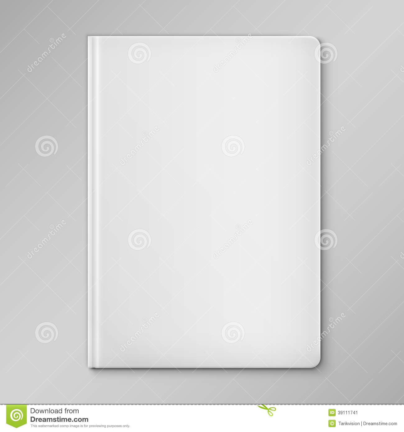Book Cover Illustration Royalties : Isolated white blank book cover stock vector image