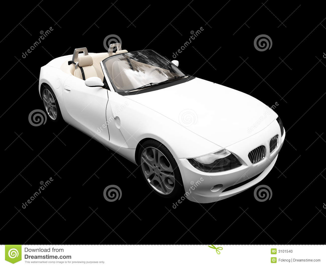 Isolated White Car Front View Stock Photo - Image: 3101540