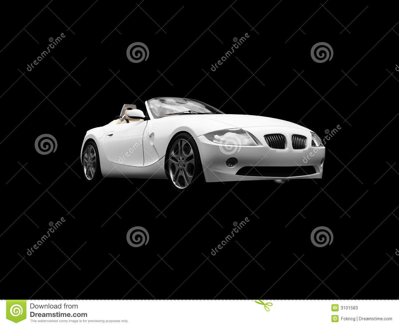 Isolated White Car Front View Stock Photos - Image: 3101583