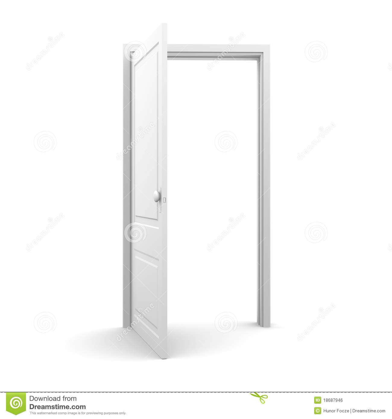 Royalty-Free Stock Photo. Download Isolated White Opened Door ...  sc 1 st  Dreamstime.com & Isolated White Opened Door Royalty Free Stock Image - Image: 18687946 pezcame.com