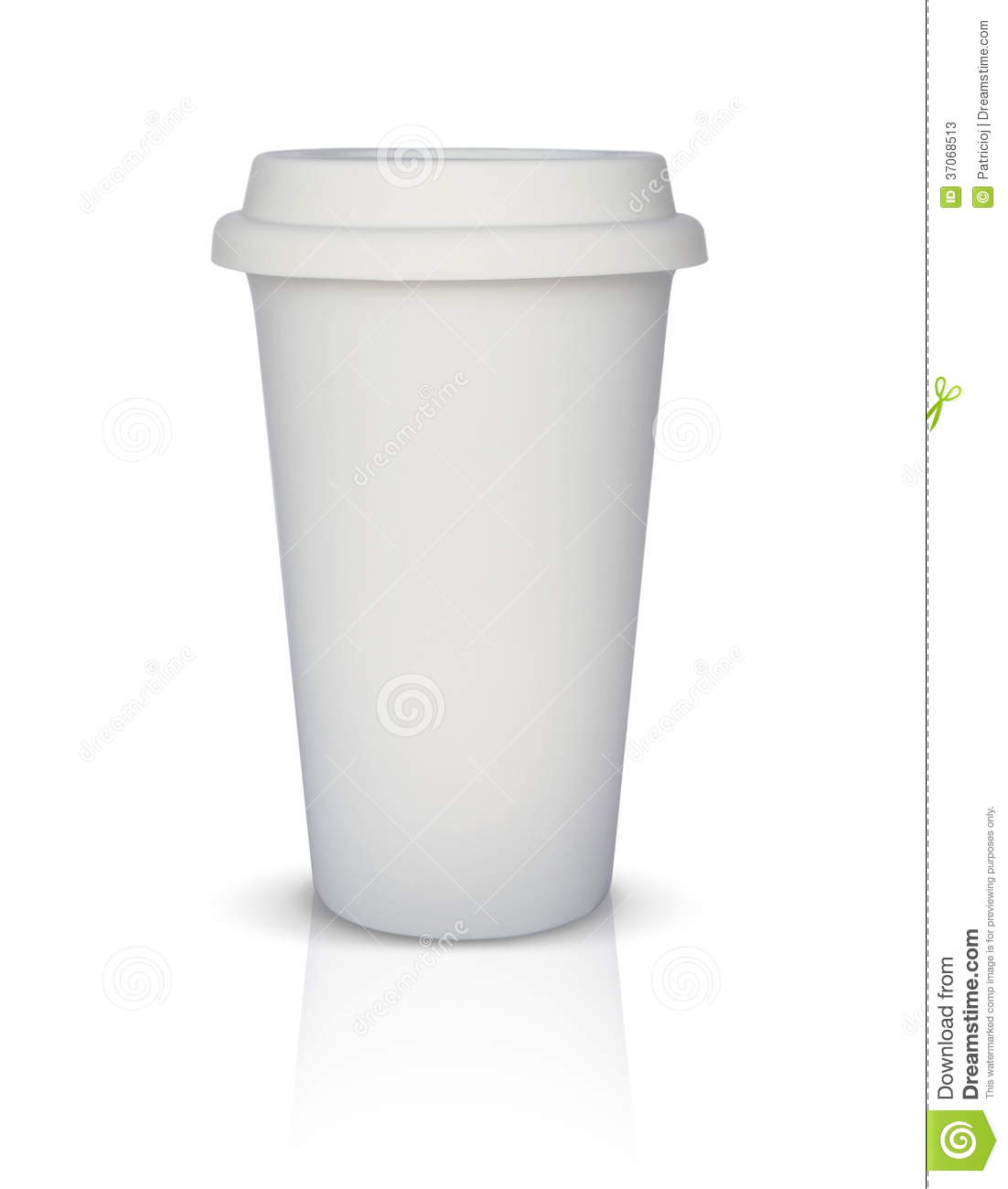 Isolated white takeaway coffee cup stock image image of for Coffee to go