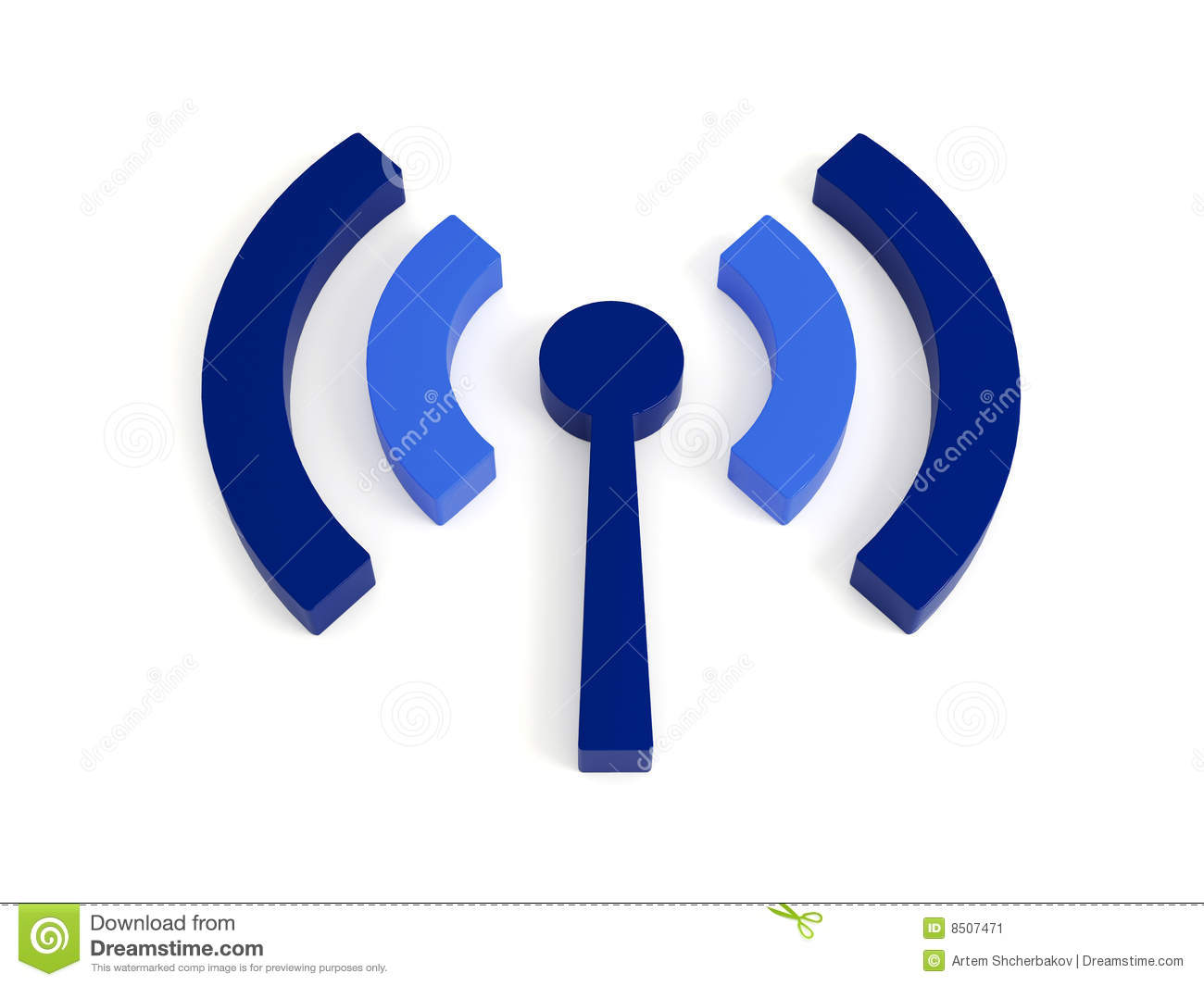 Isolated Wi Fi (wireless) Icon Stock Illustration - Illustration of ...