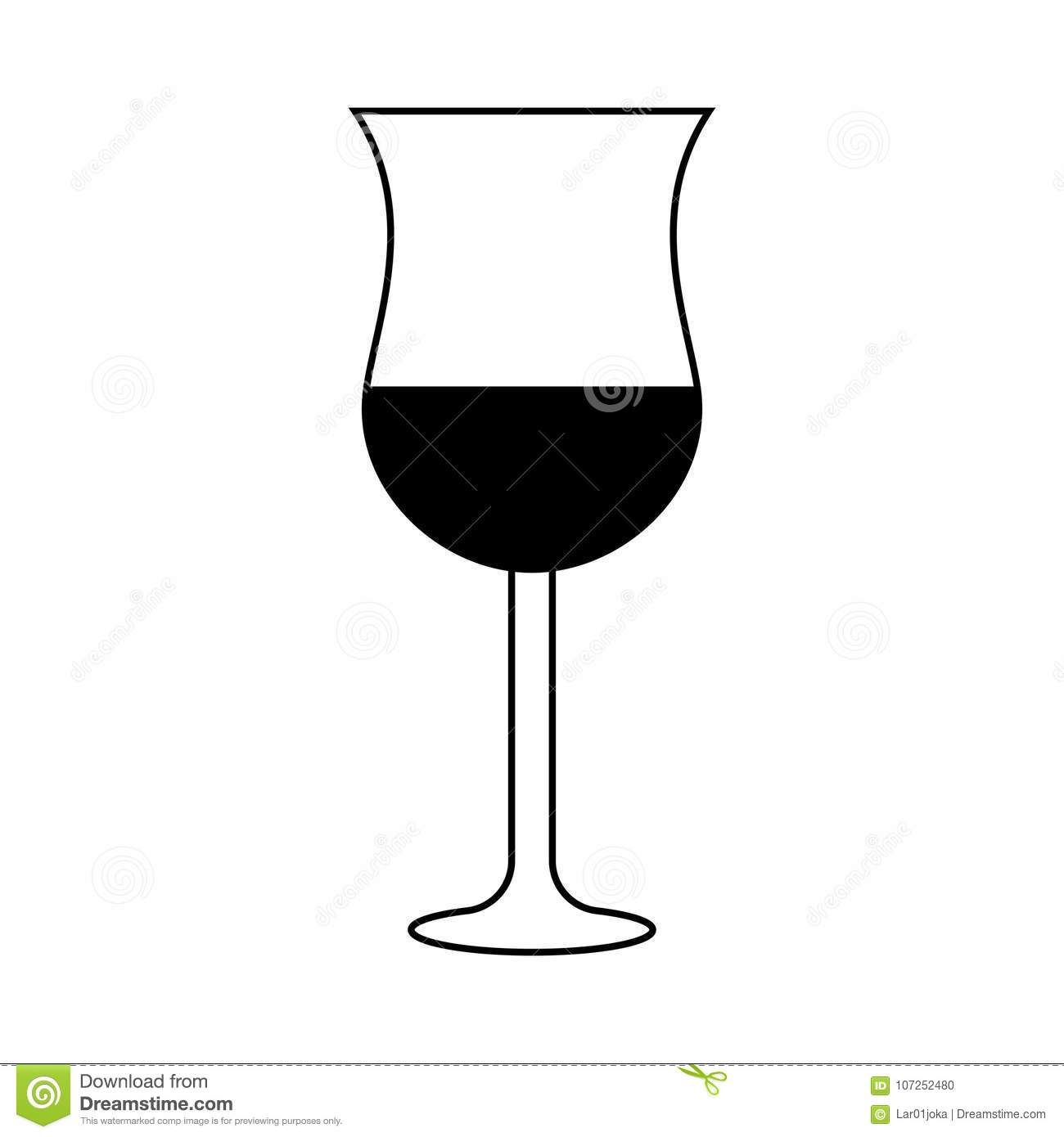 Isolated wine glass