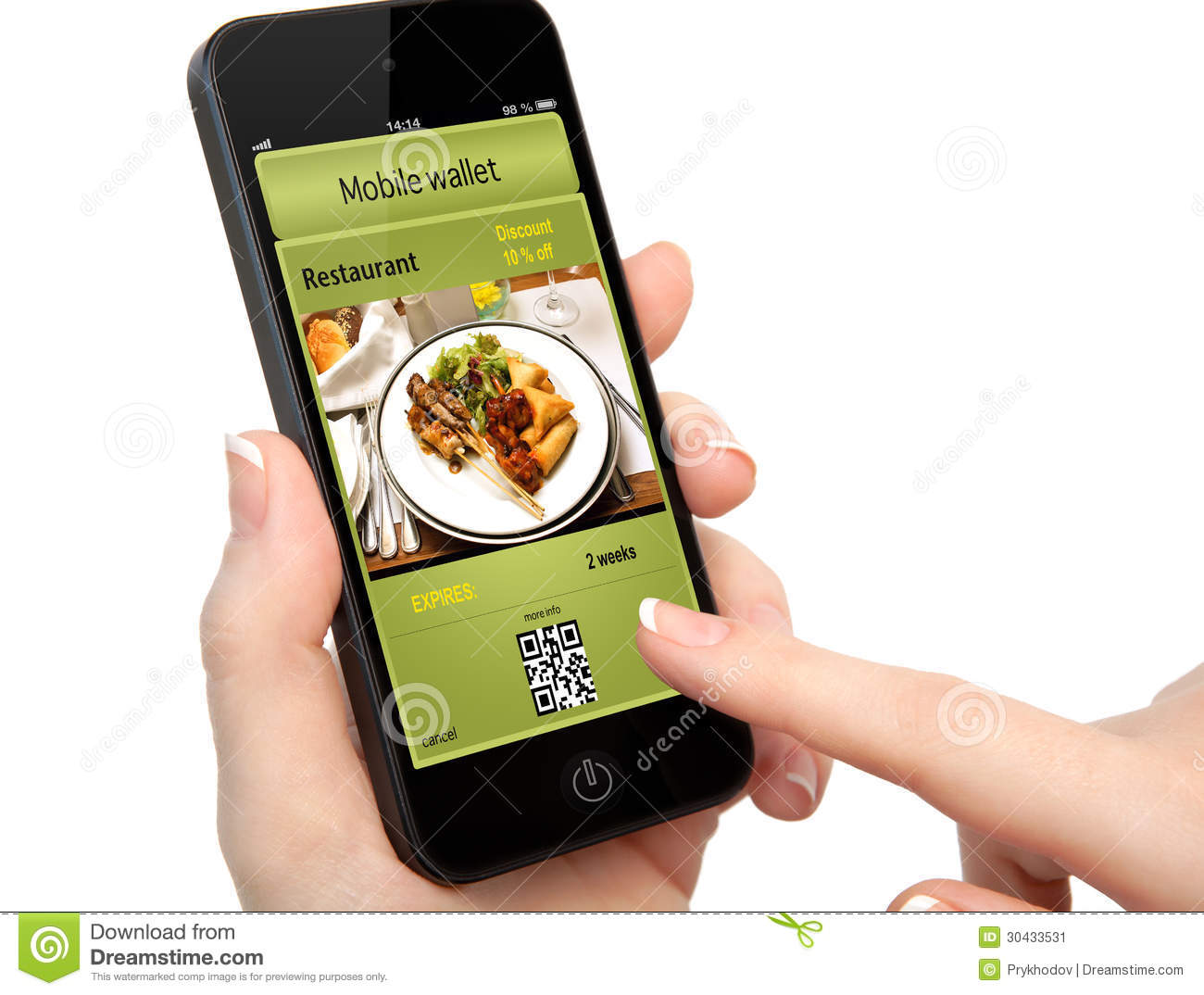 Isolated woman hand holding the phone with a mobile wallet and t stock image image of hold - Mobel discount kassel ...