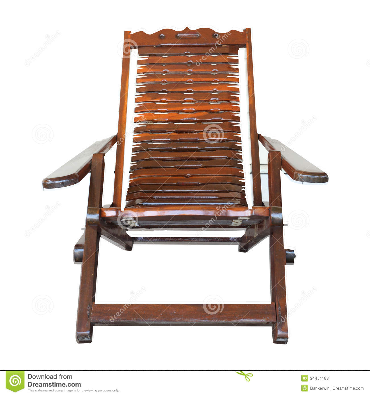 Royaltyfree Stock Photo Download Isolated Wood Arms Chair