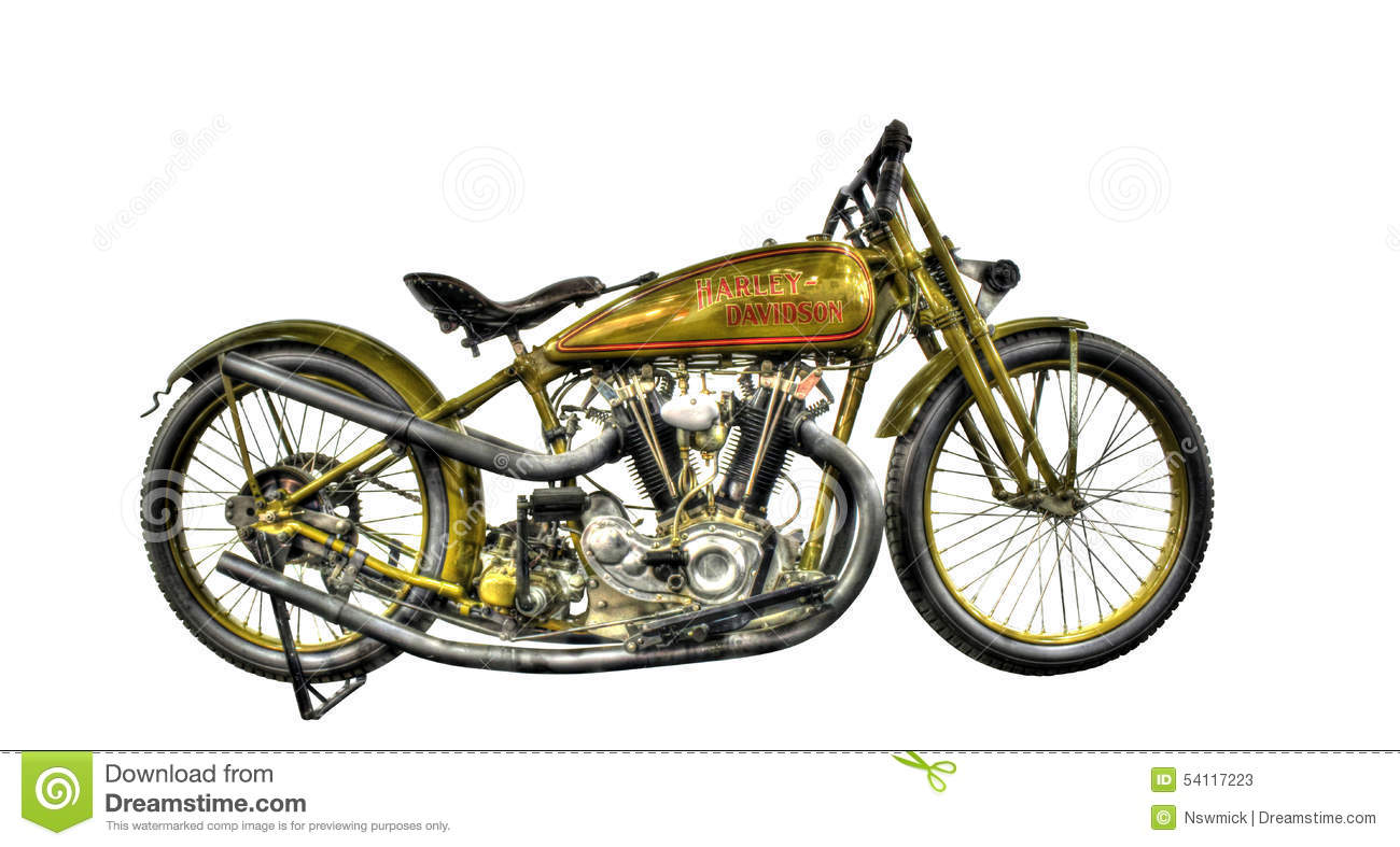 Isolated WW2 Harley Davidson Motorbike On A White Background Editorial Stock Photo - Image: 54117223