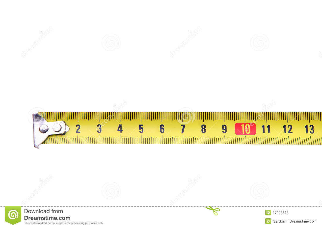 Isolated Yellow Measuring Tape Ruler Meter Stock Photo ...