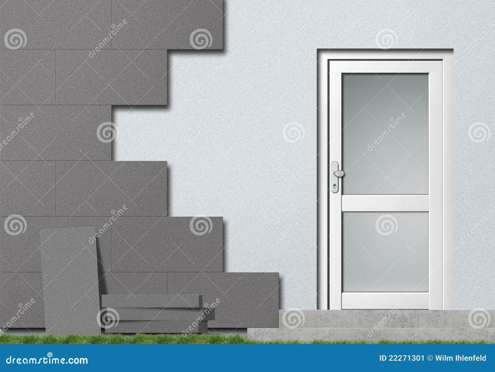 Isolation de fa ade de polystyr ne image stock image Isolation de facade