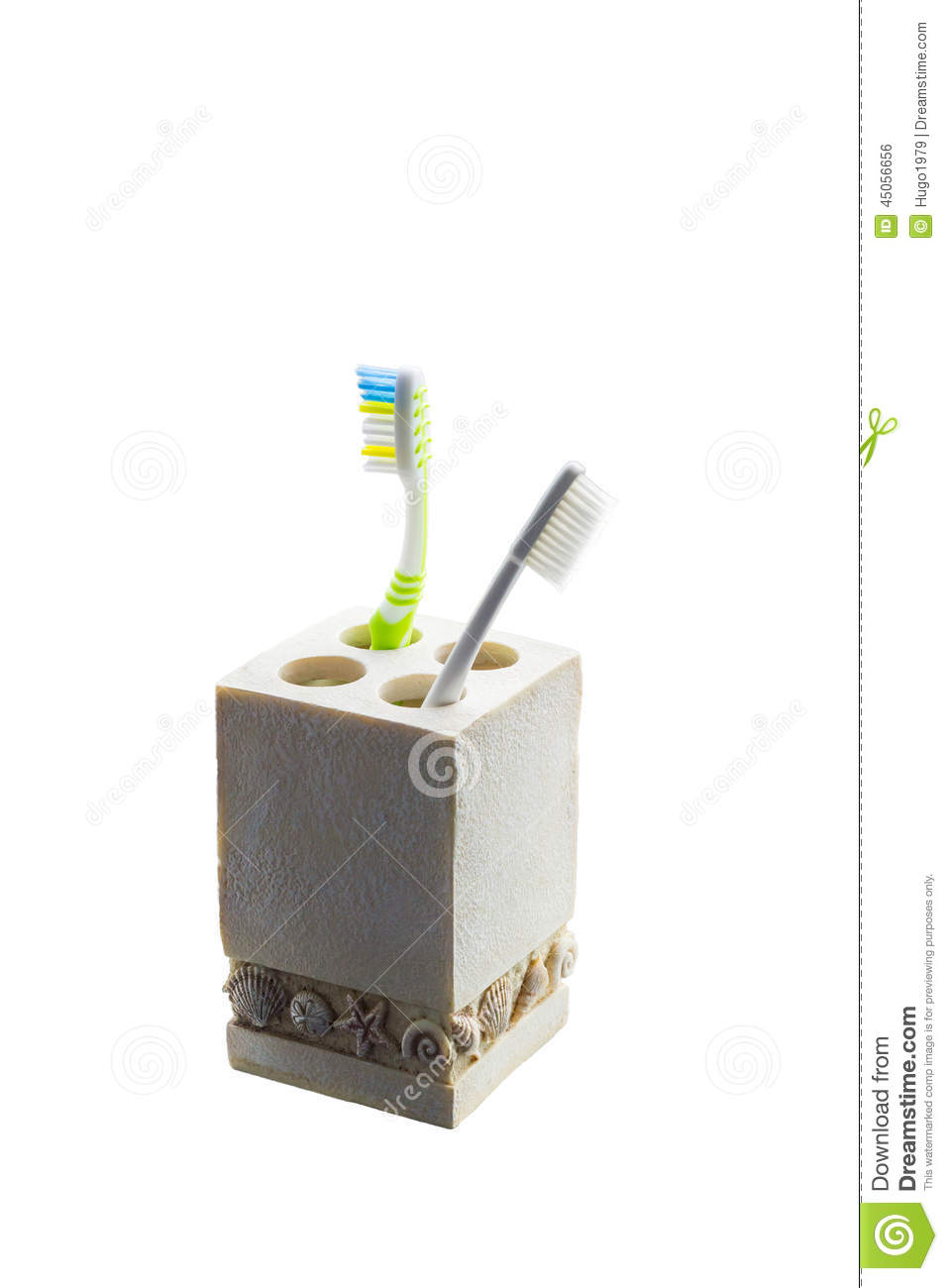 Isolation of toothbrush in container stock photo image for Container isolation