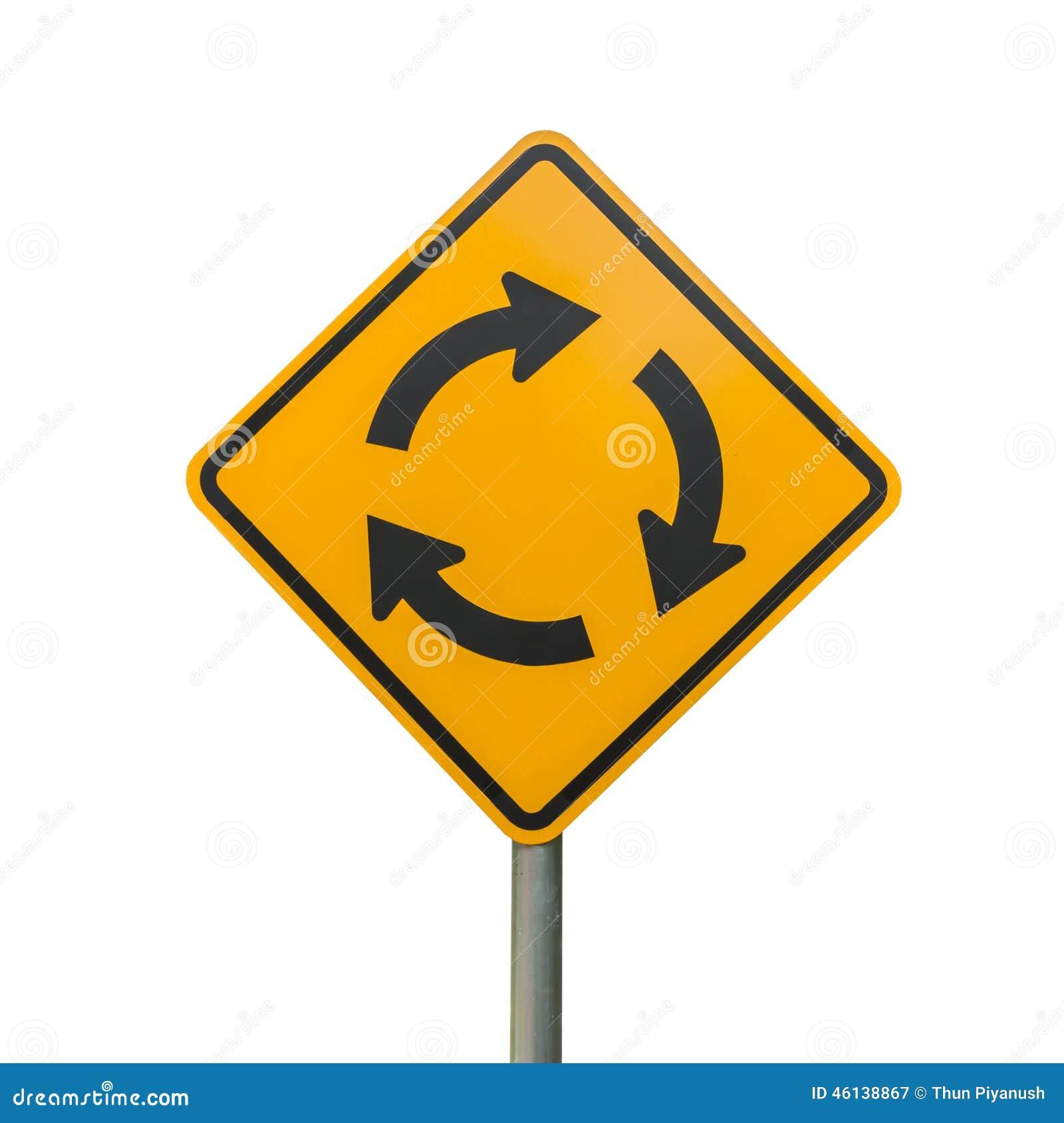 Isolato del segno della rotonda