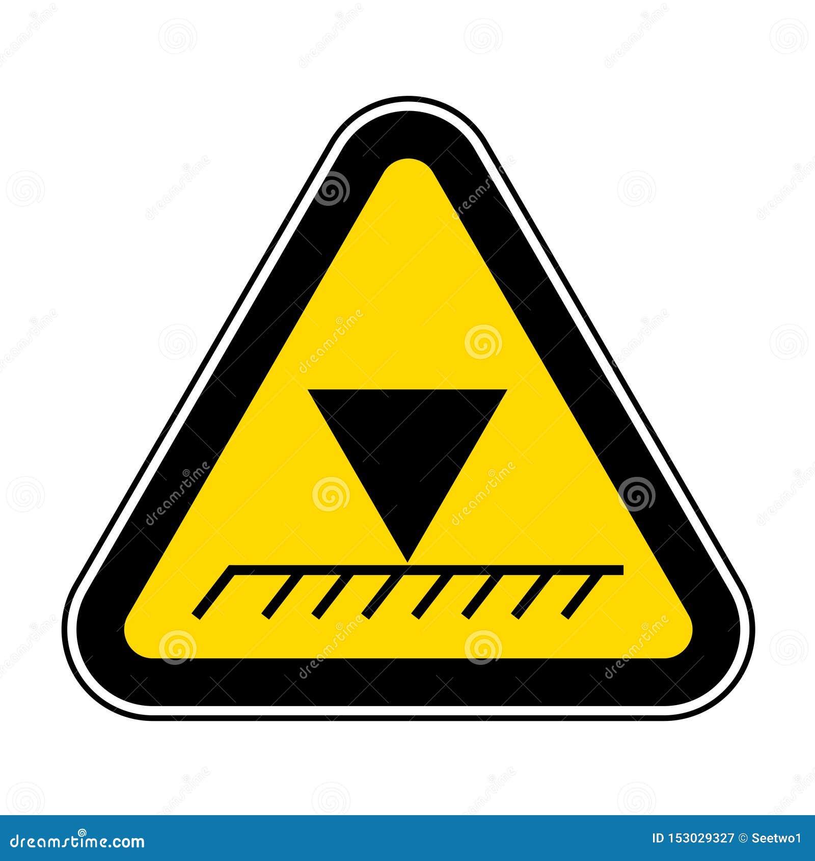 Isolato sopraelevato del segno di simbolo di altezza di limite su fondo bianco, illustrazione ENV di vettore 10