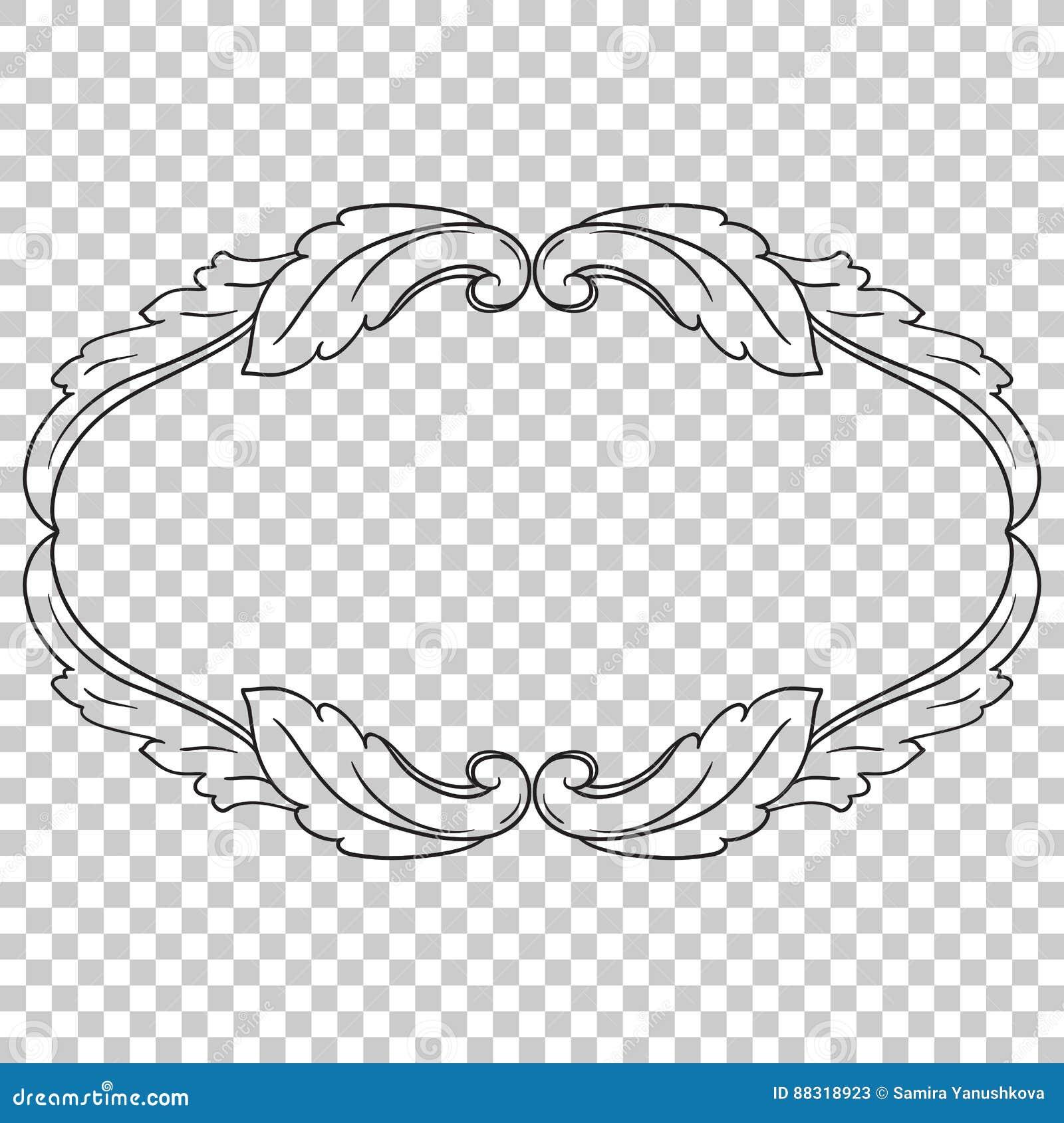 Isoleer ornament in barokke stijl