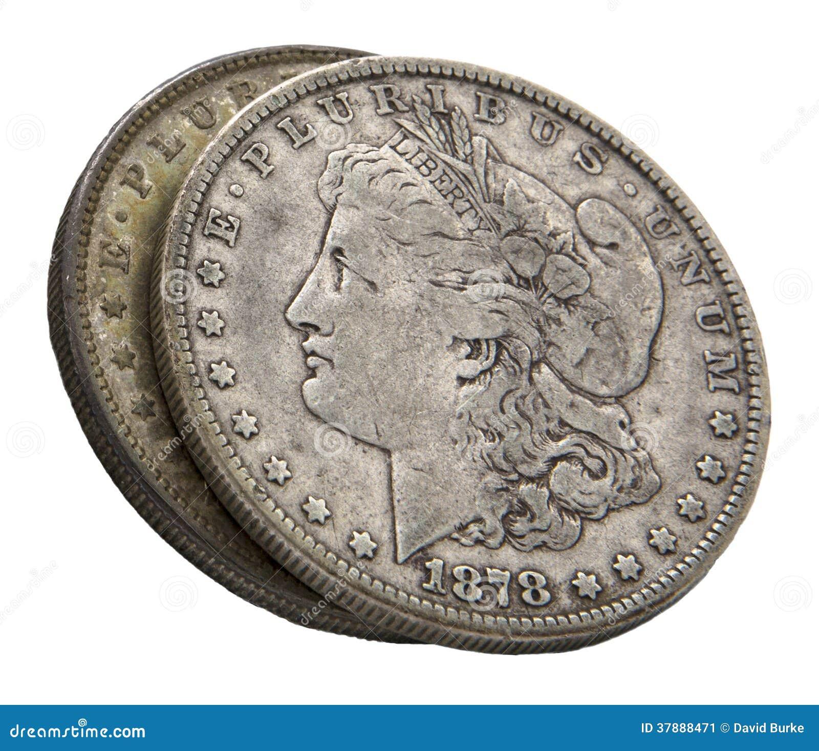 1878 isoleerden de zilveren dollars van Morgan wit