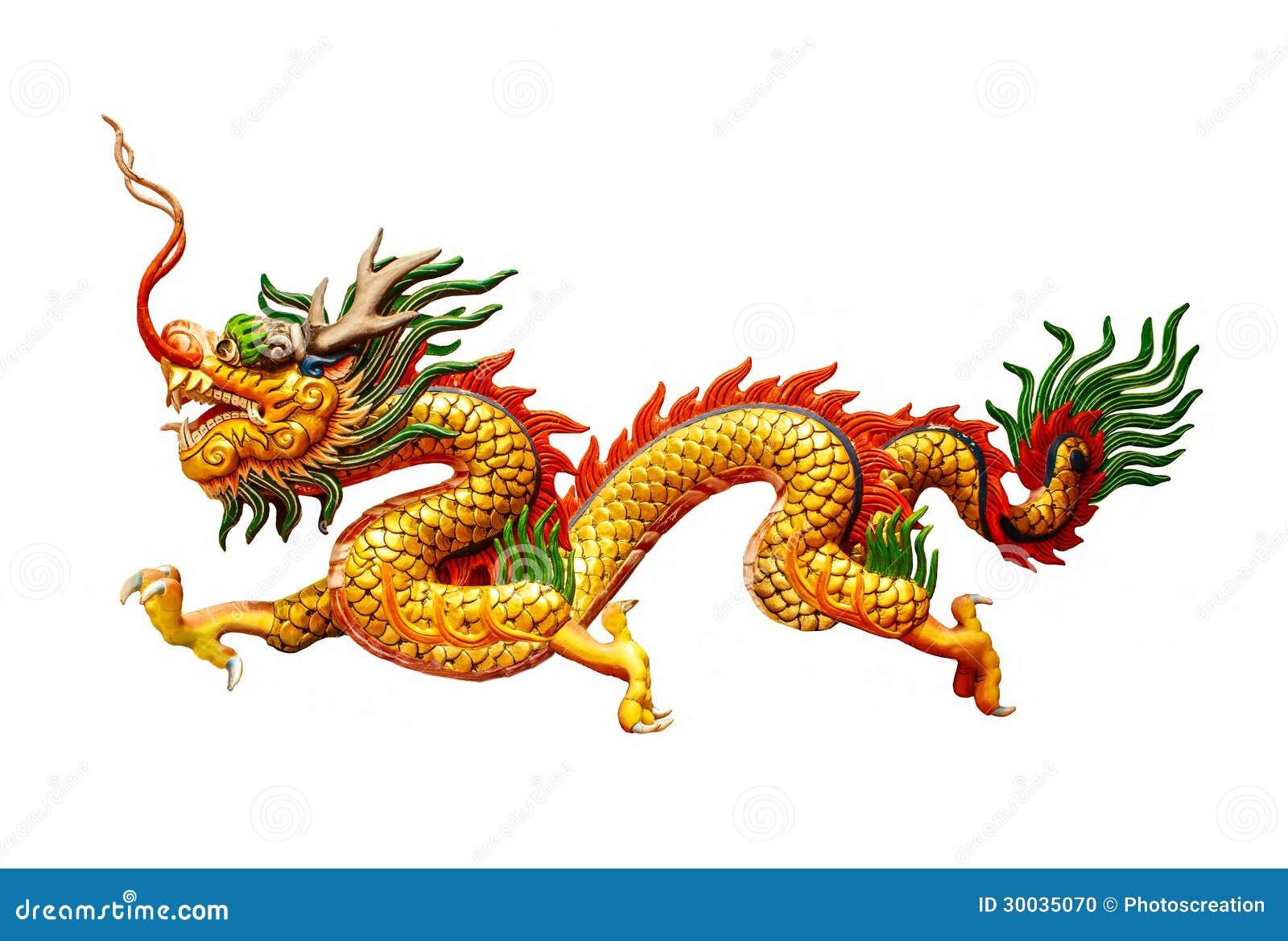 Dragon chinois sur le fond blanc photo stock image 30035070 - Photo de dragon chinois ...