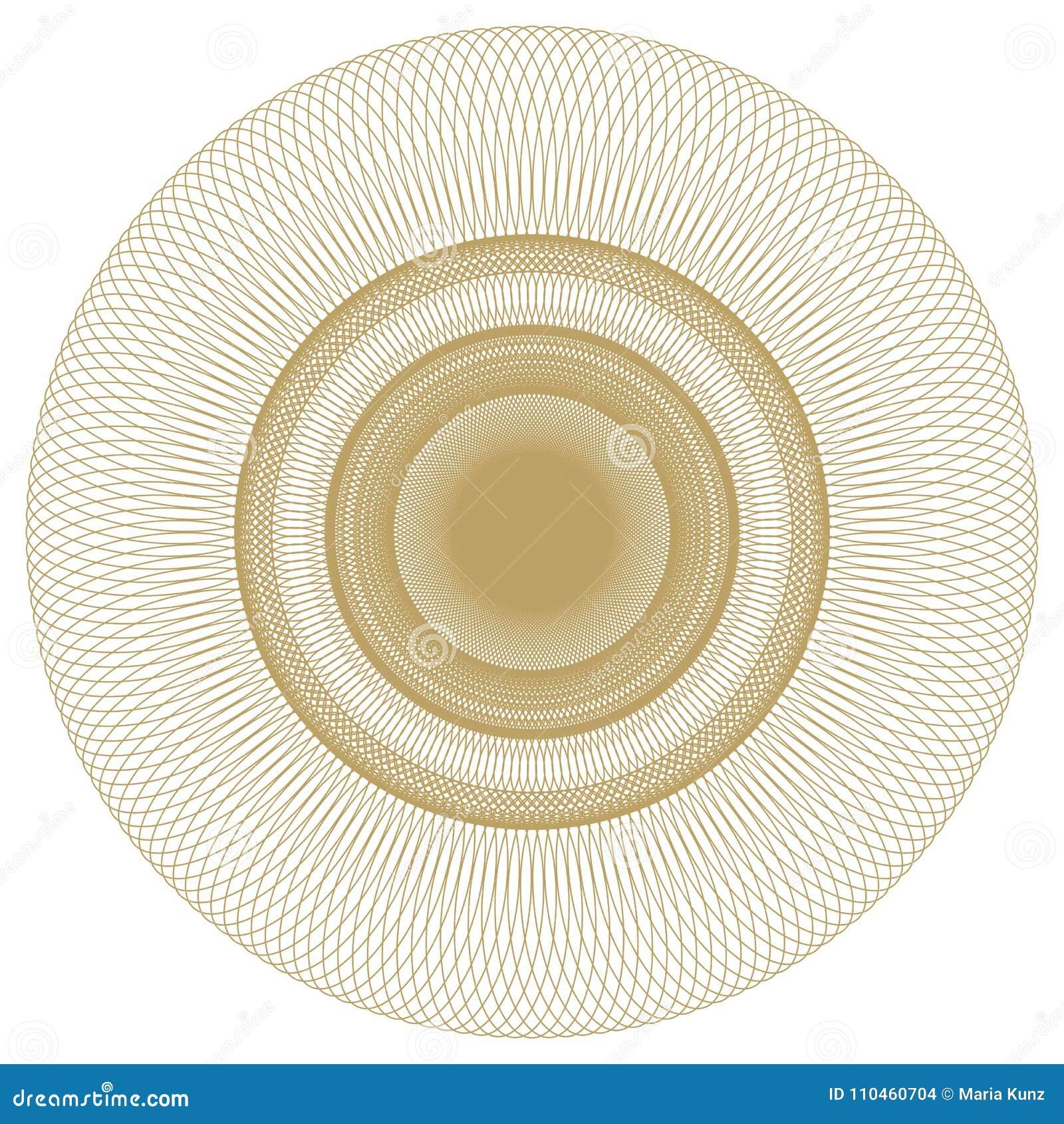 Isolerad abstrakt rund modell