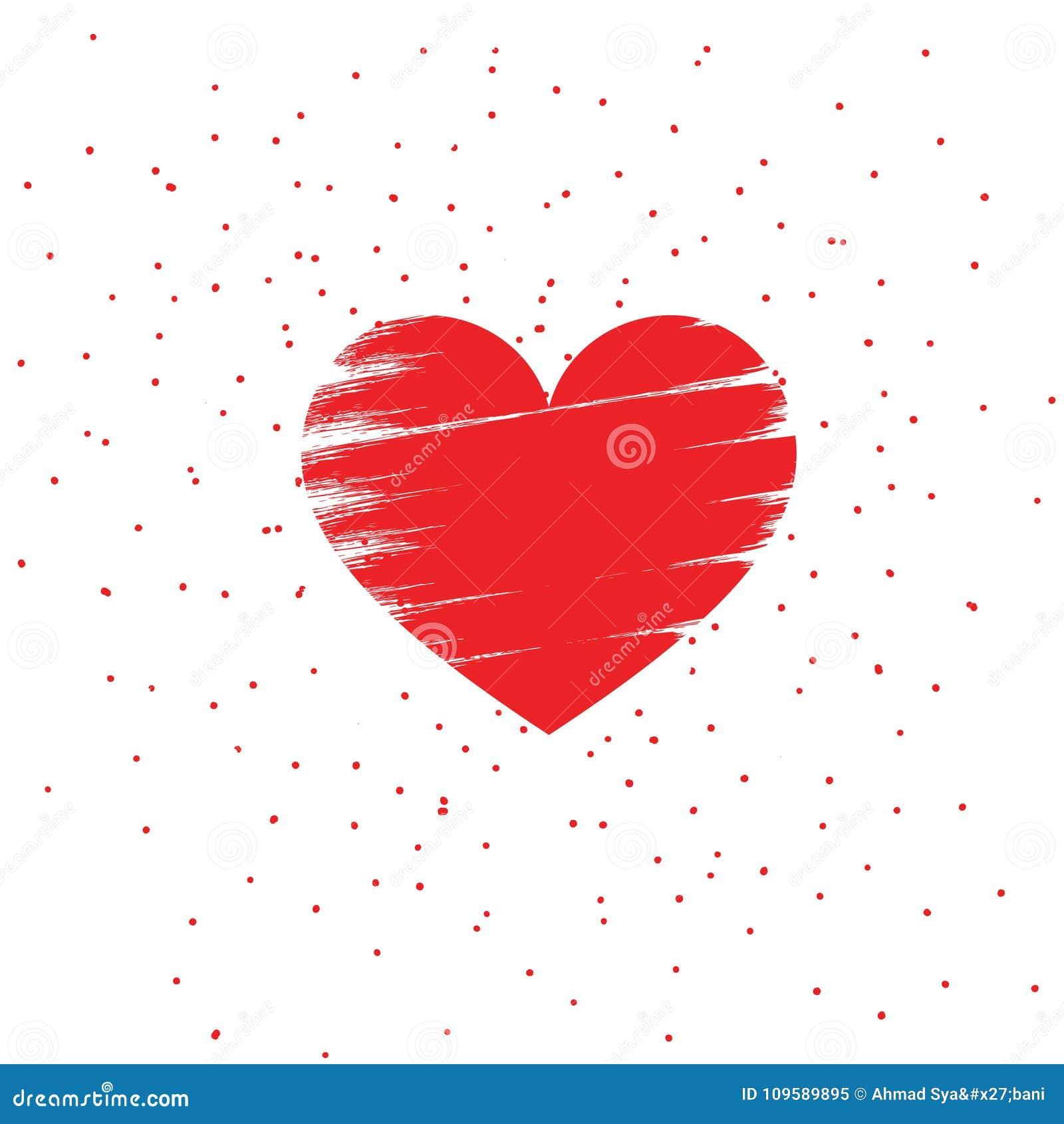 Isolerad bakgrund för valentinförälskelse hjärta