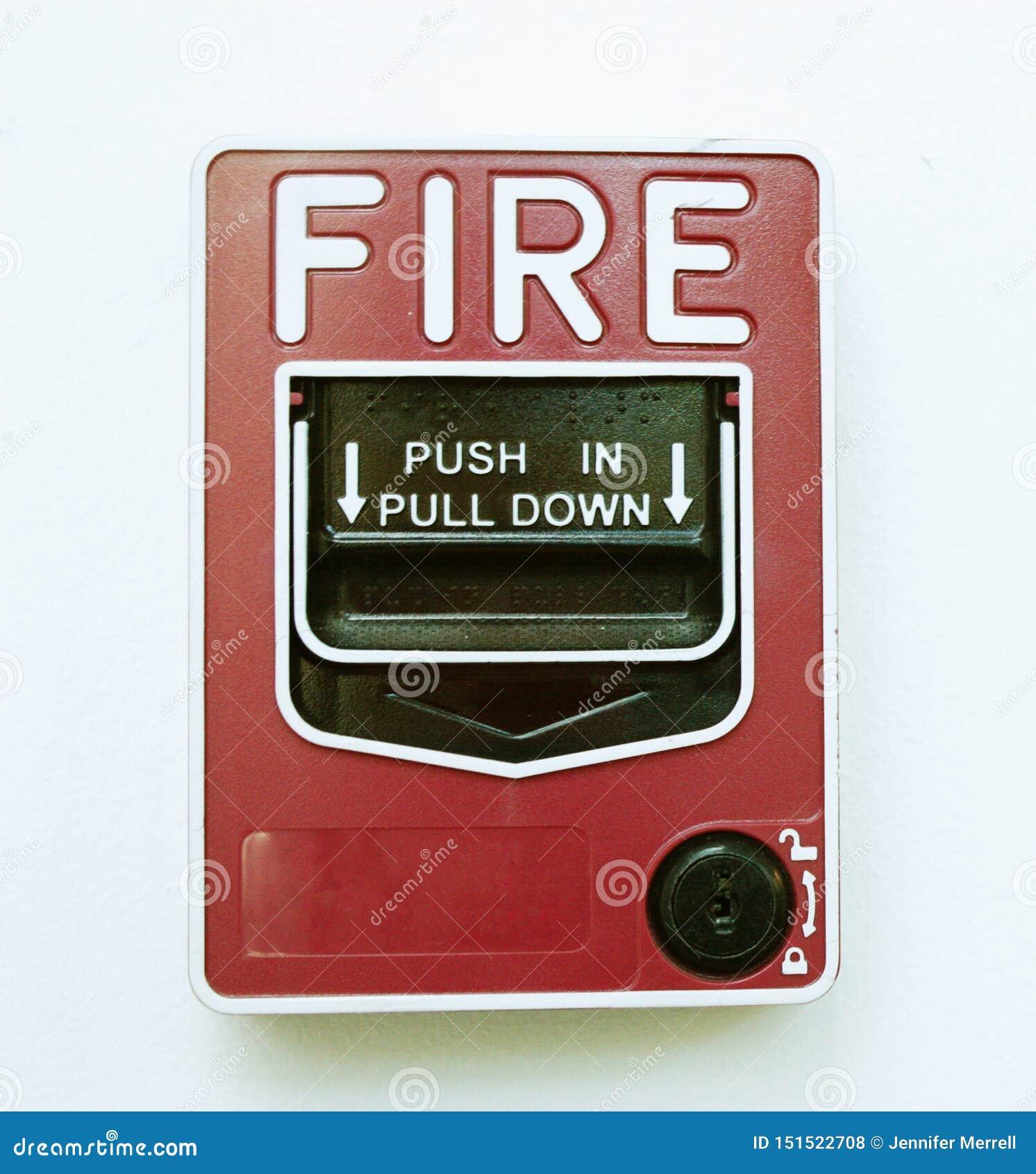 Isolerad bild för brandlarm