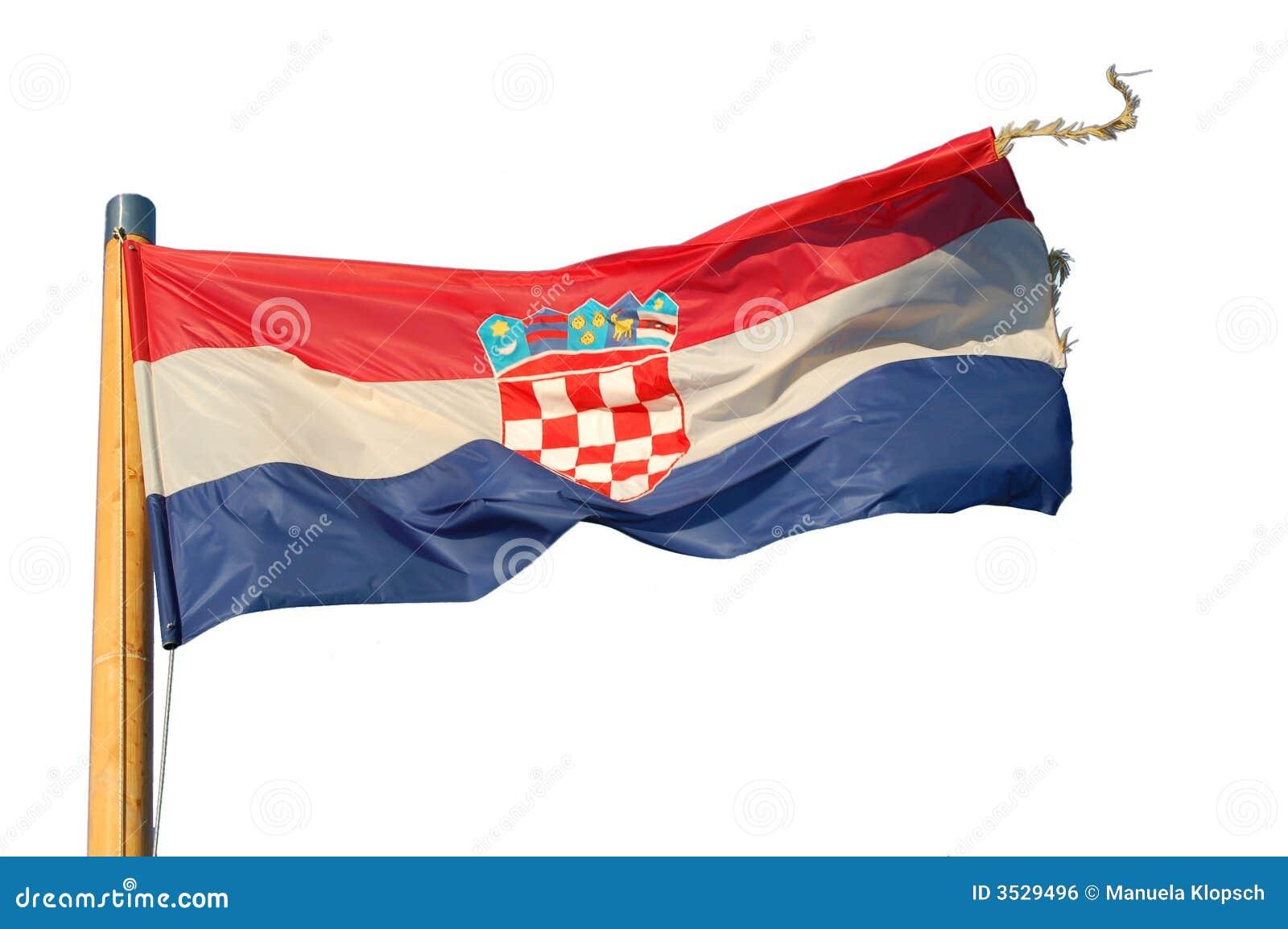 Isolerad croatia flagga