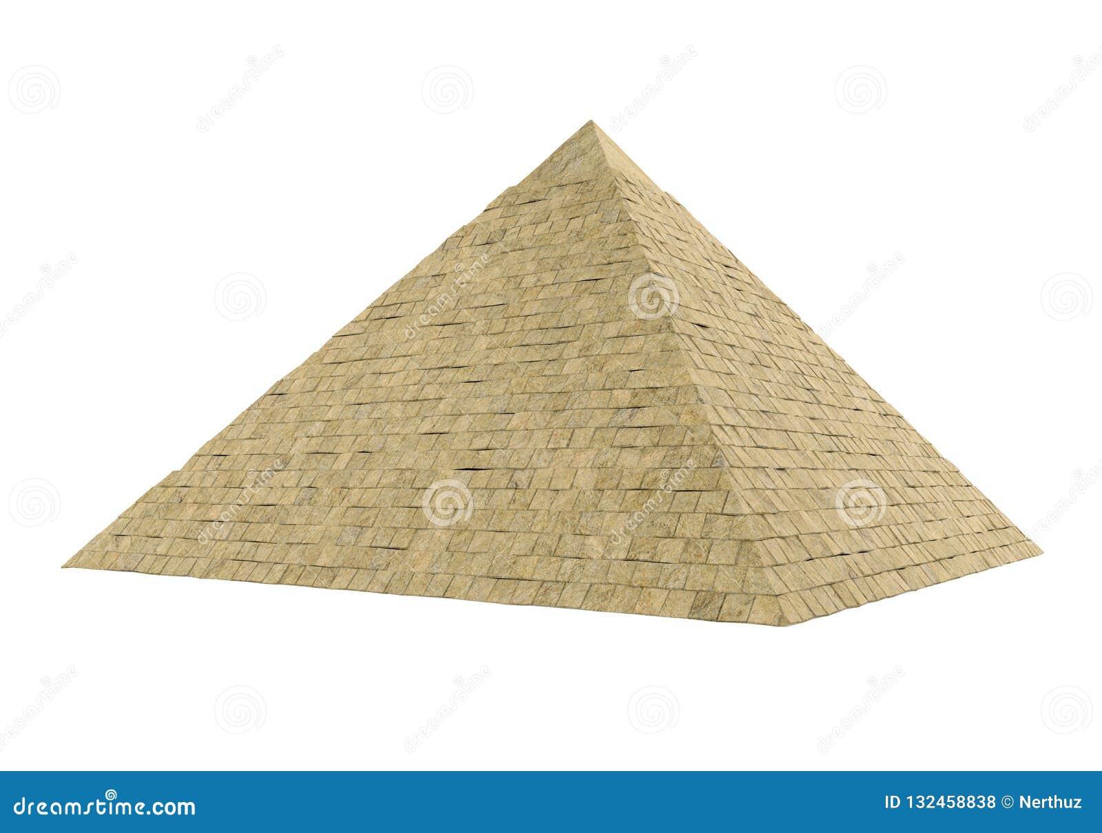 Isolerad egyptisk pyramid