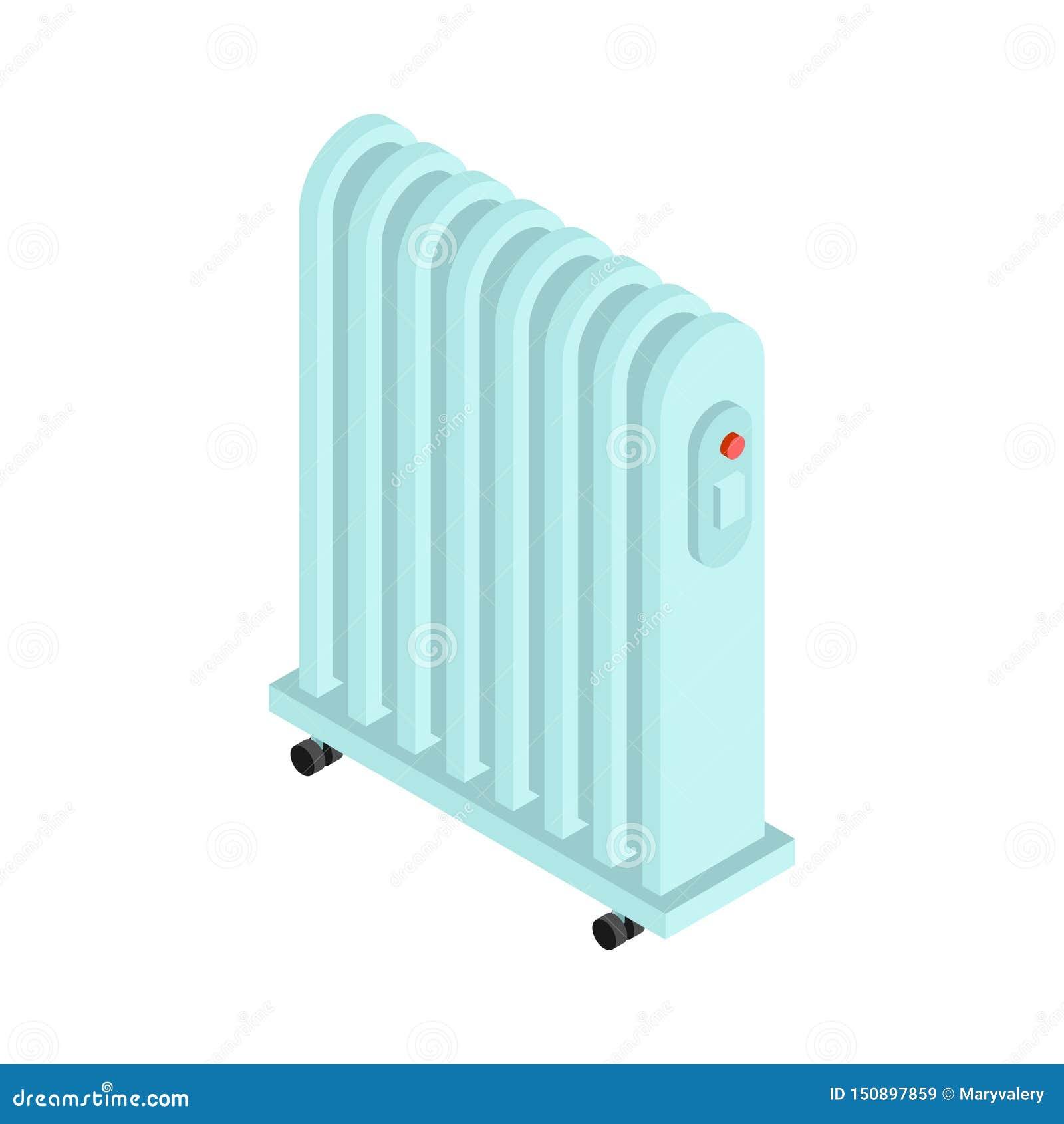 Isolerad elementvärme Elektrisk värma elementvektorillustration