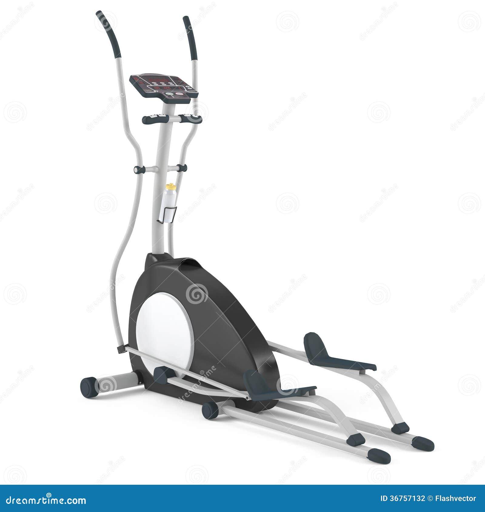 Isolerad ellipsformig arg instruktör