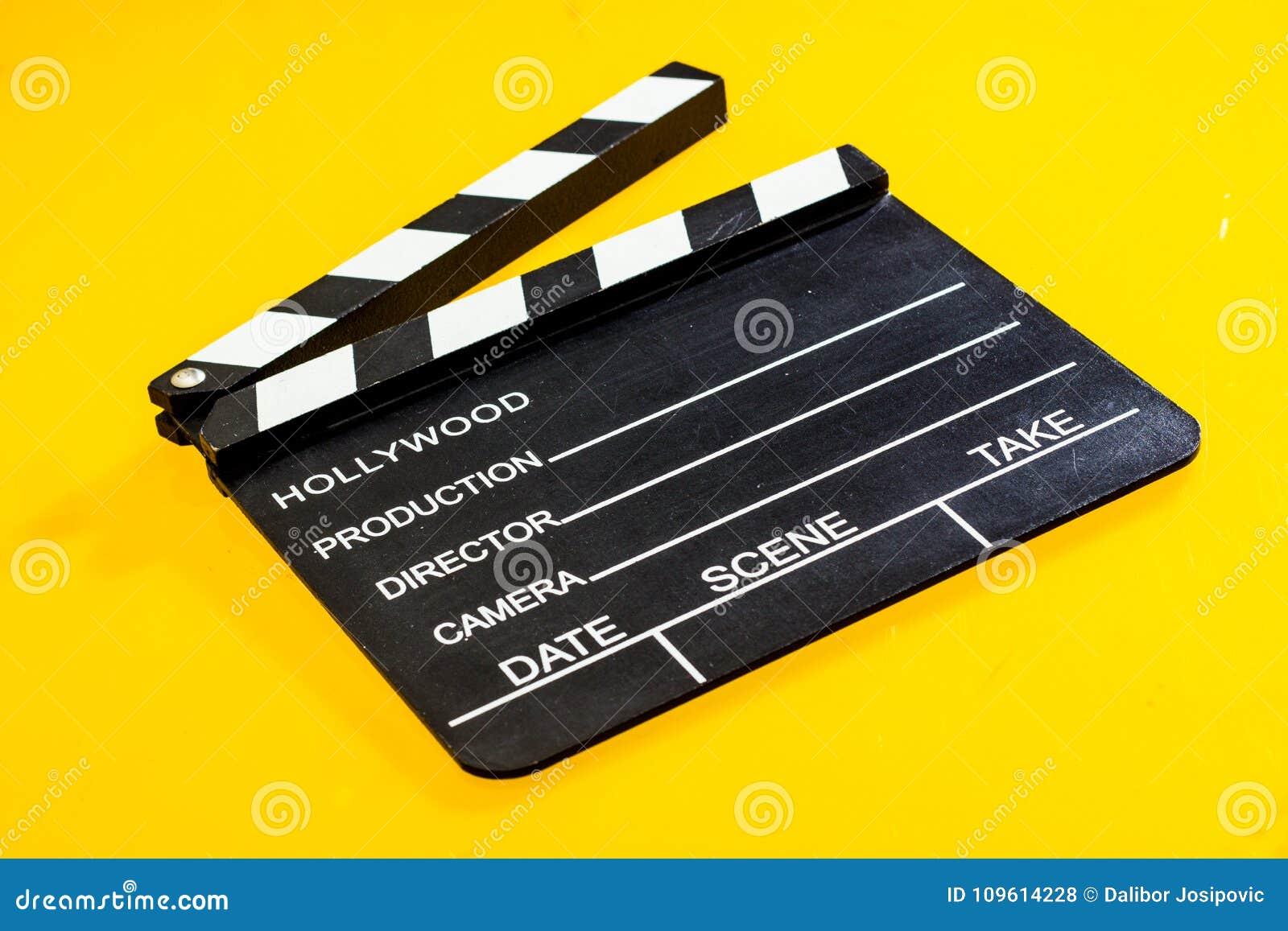 Isolerad filmclapper
