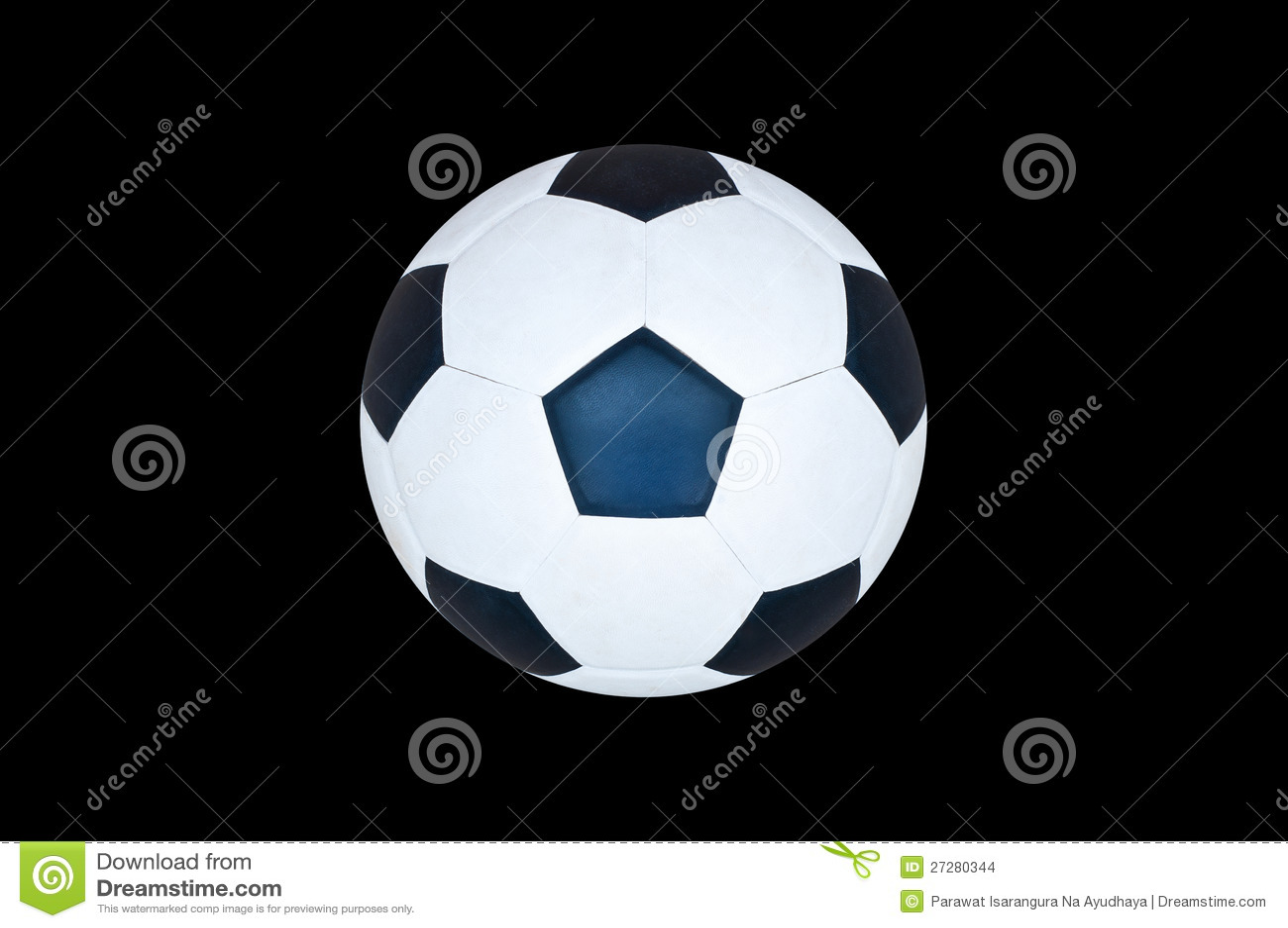 Isolerad fotbollboll.