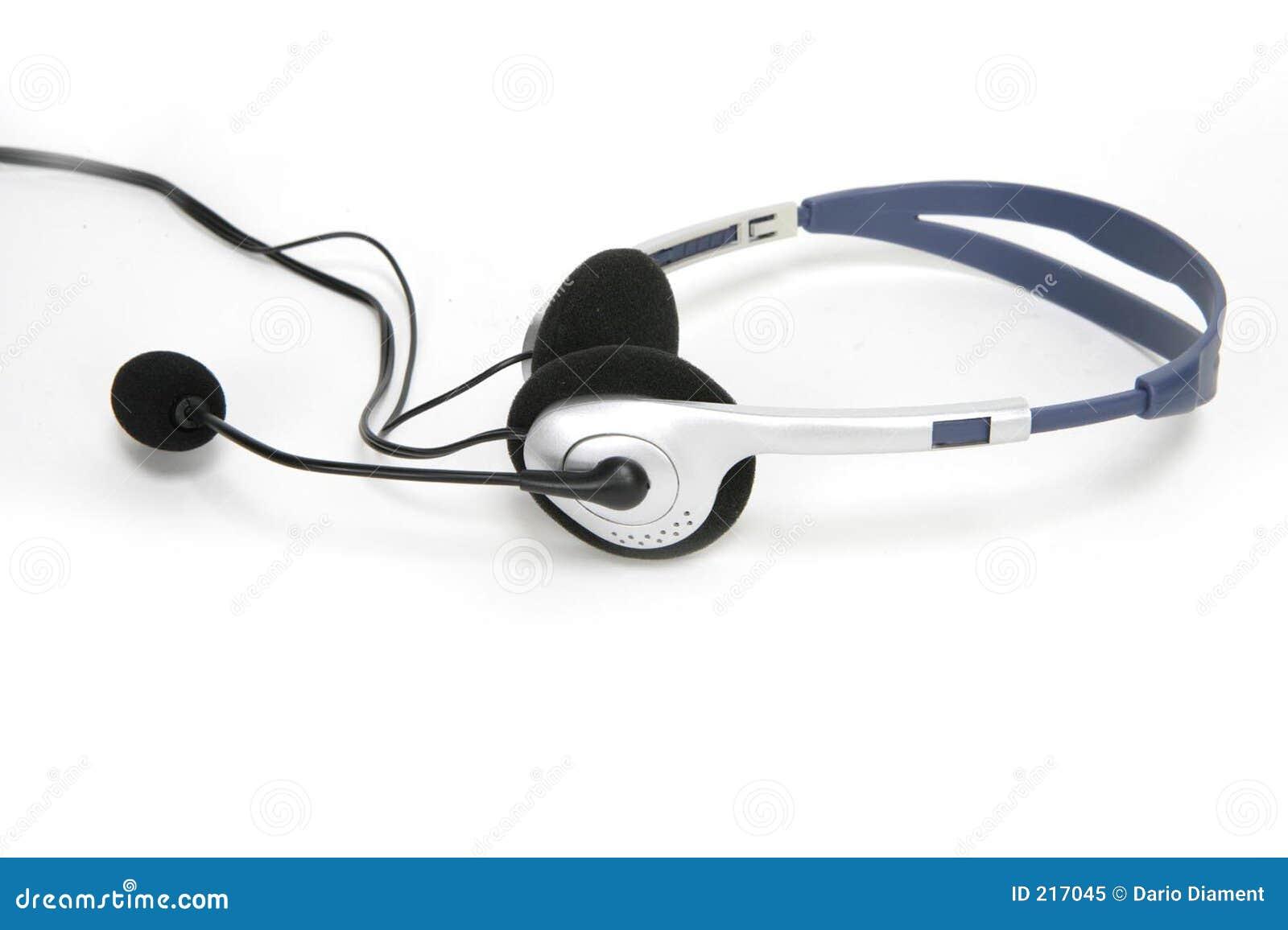 Isolerad kommunikationshörlurar med mikrofon