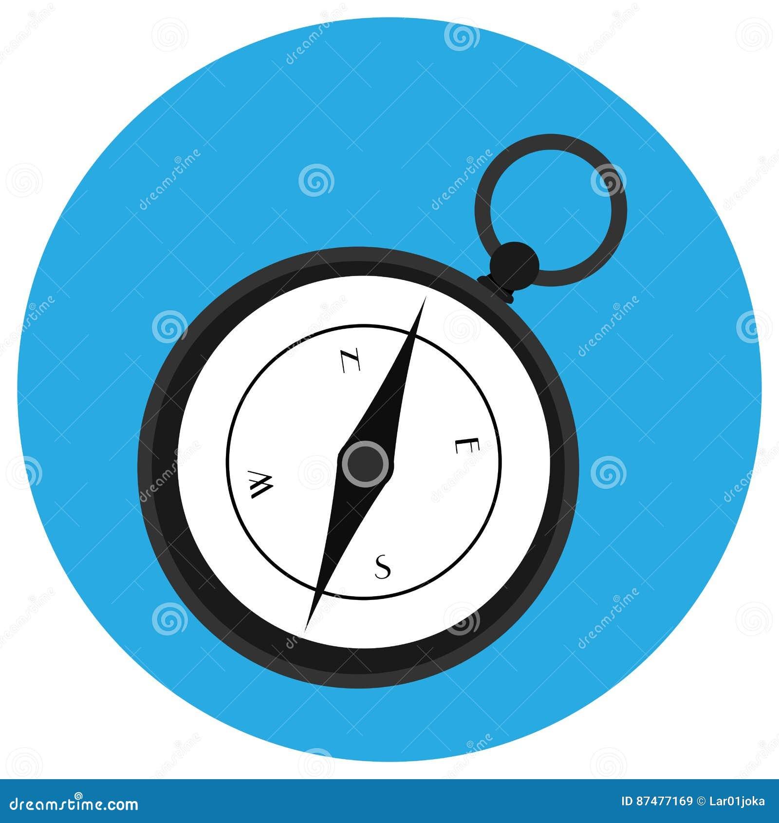Isolerad kompasssymbol