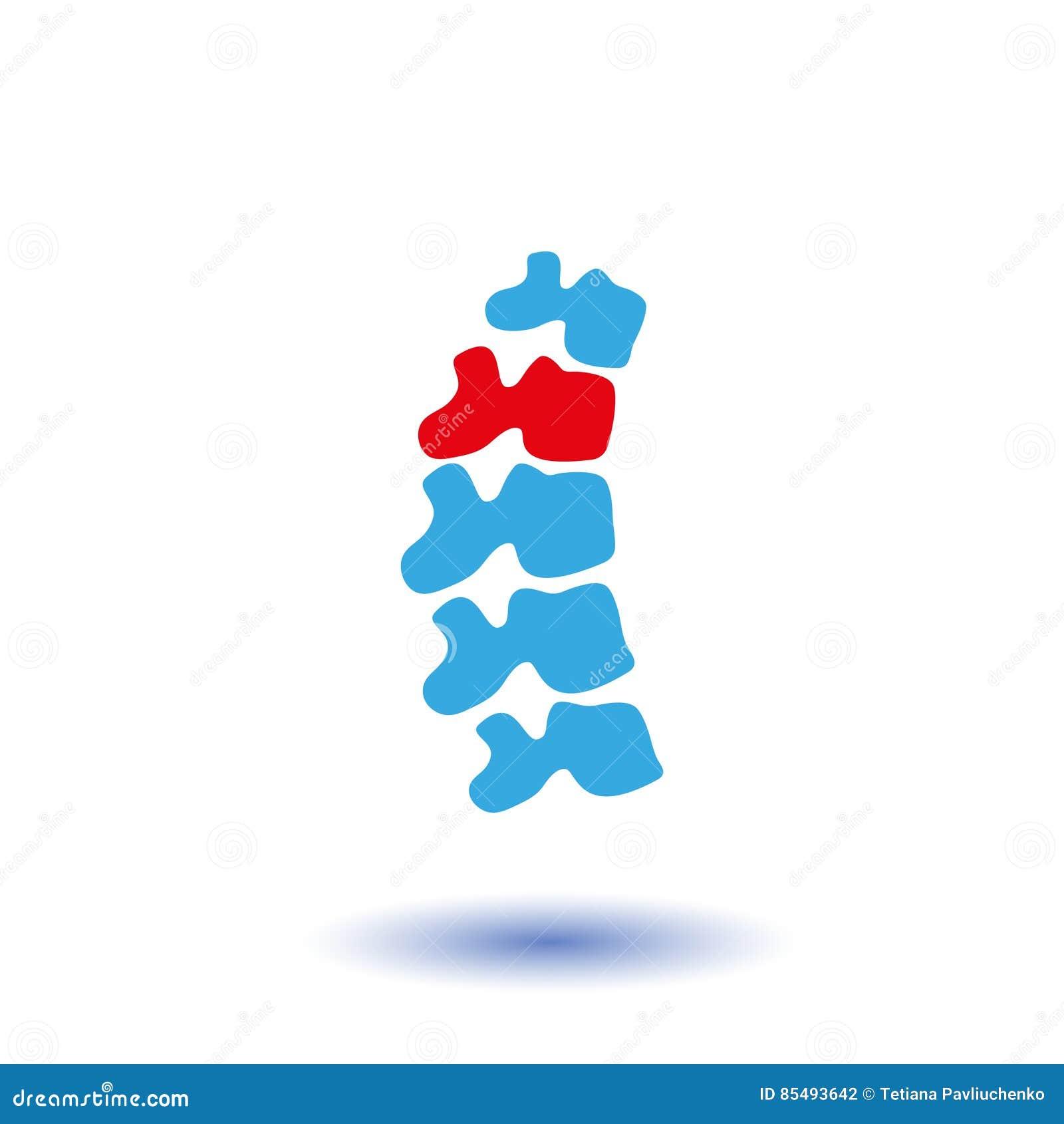 Isolerad konturillustration för vektor mänsklig rygg Ryggen smärtar