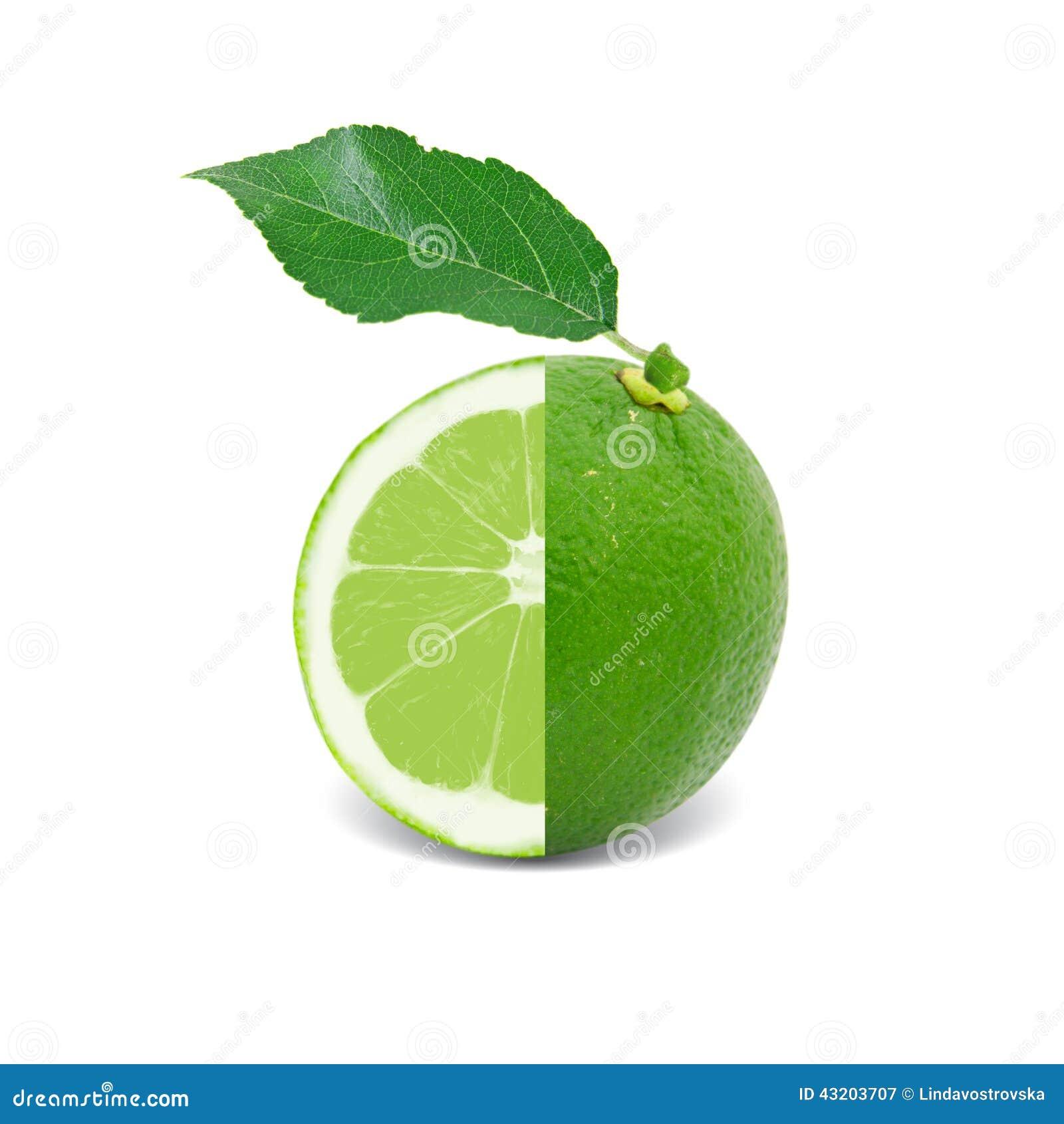 Download Isolerad limefrukt fotografering för bildbyråer. Bild av produce - 43203707