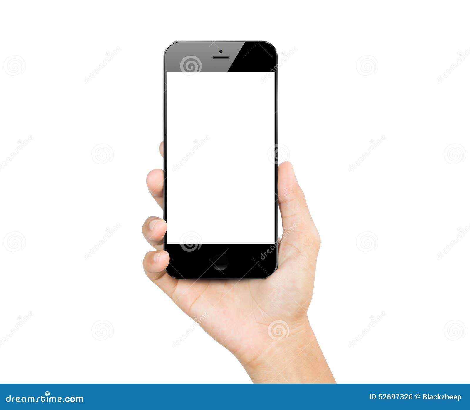 Isolerad mobil för smartphone för Closeuphandhåll