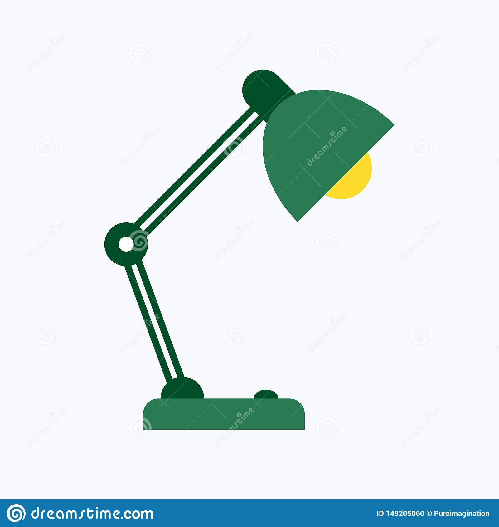 Isolerad plan stil för tabellkontorslampa