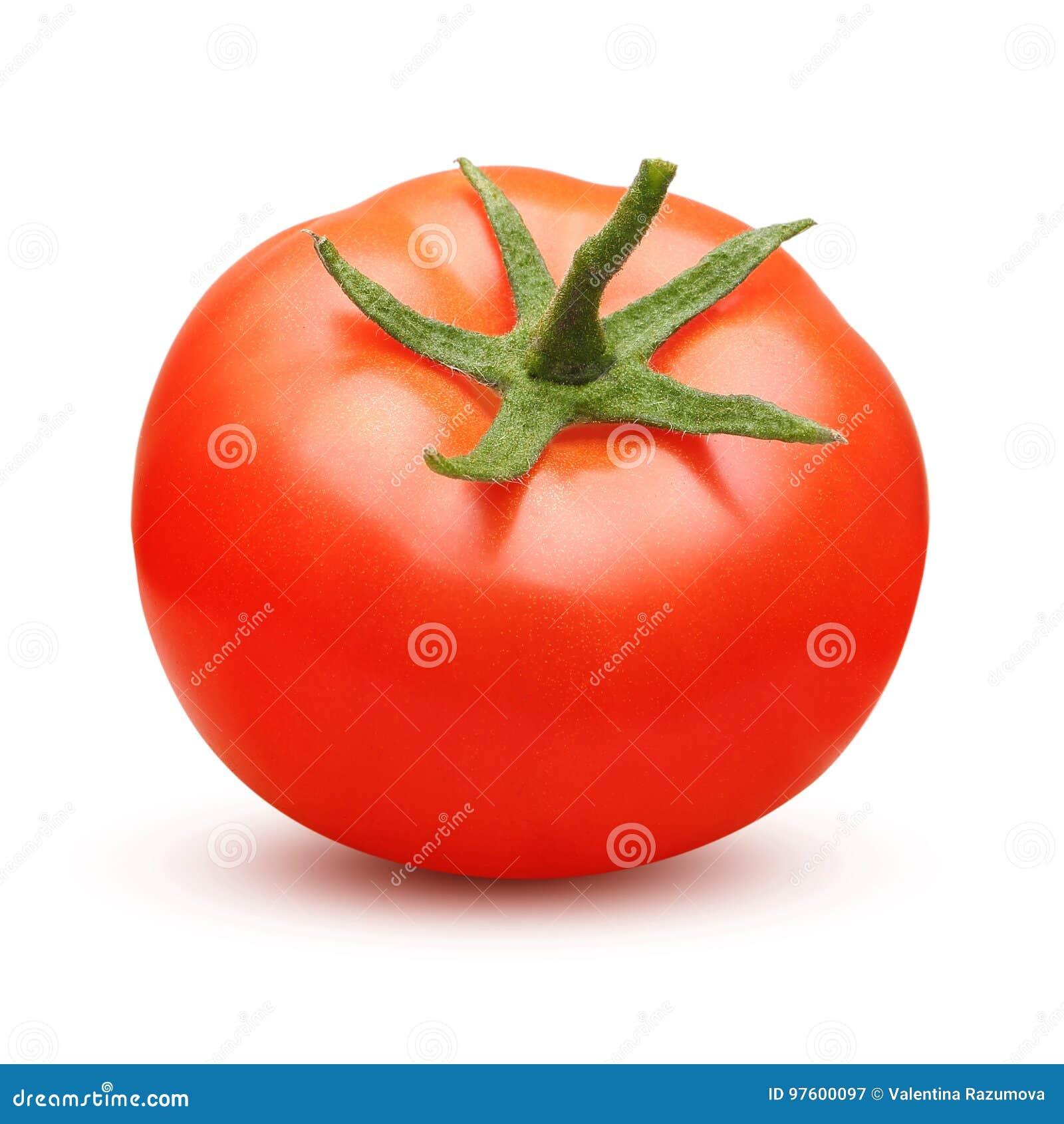 Isolerad röd tomat