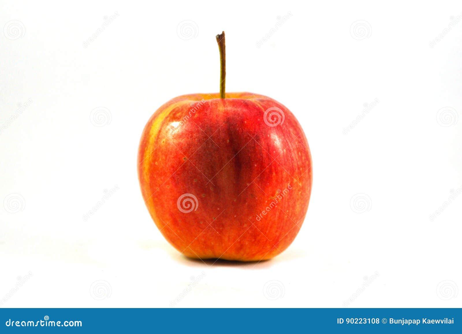 Isolerad röd vektorwhite för äpple illustration