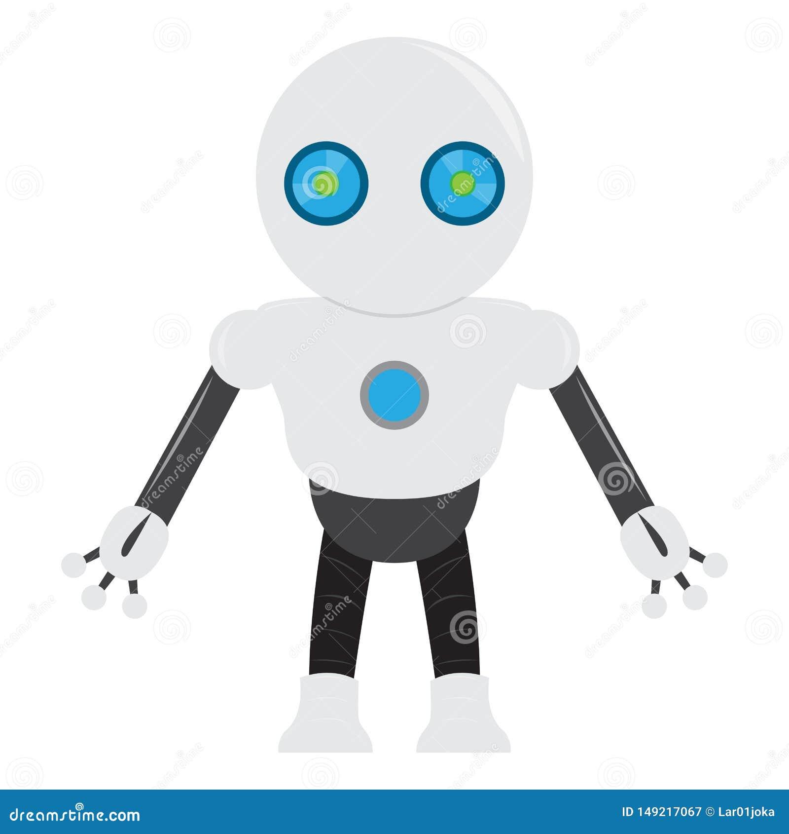 Isolerad robotleksak - vektor