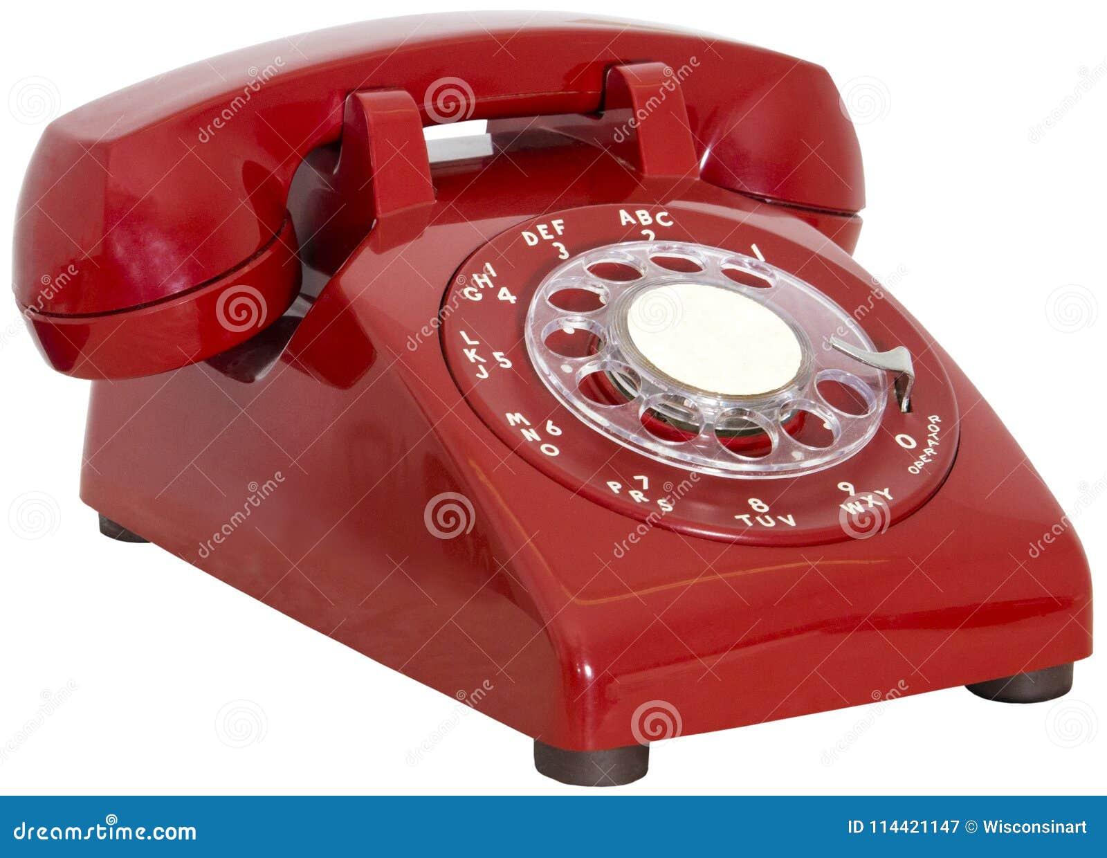 Isolerad roterande telefon för röd tappning