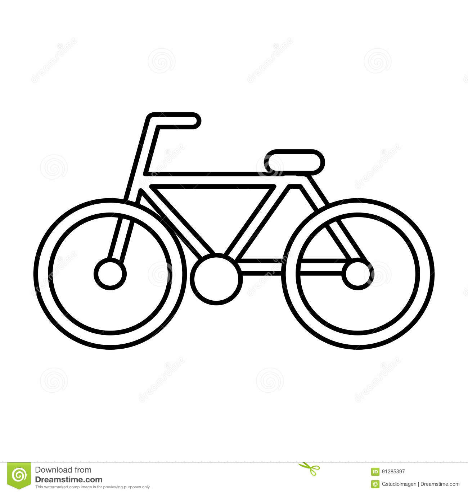 Isolerad symbol för cykel medel