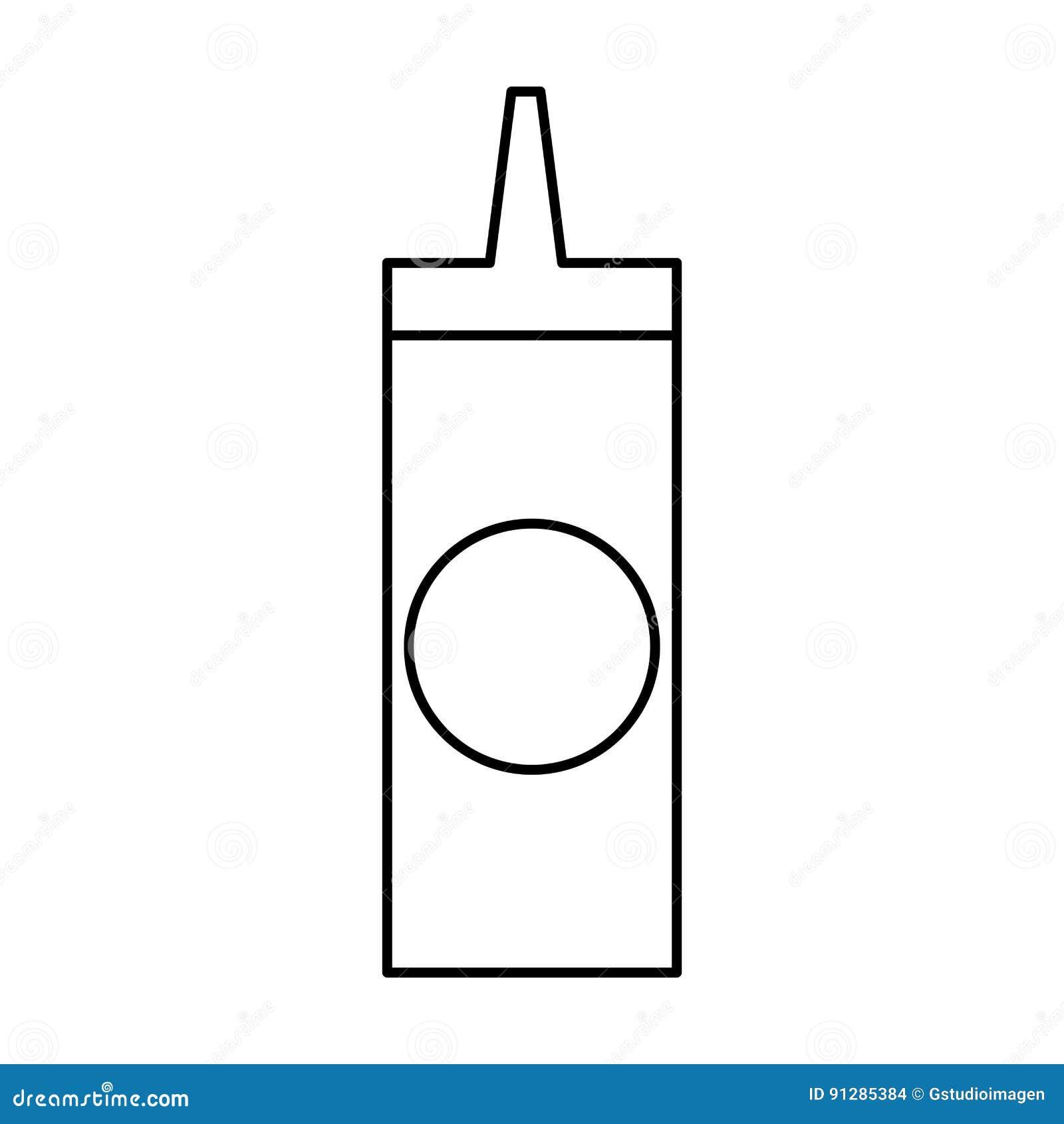 Isolerad symbol för flaska sås