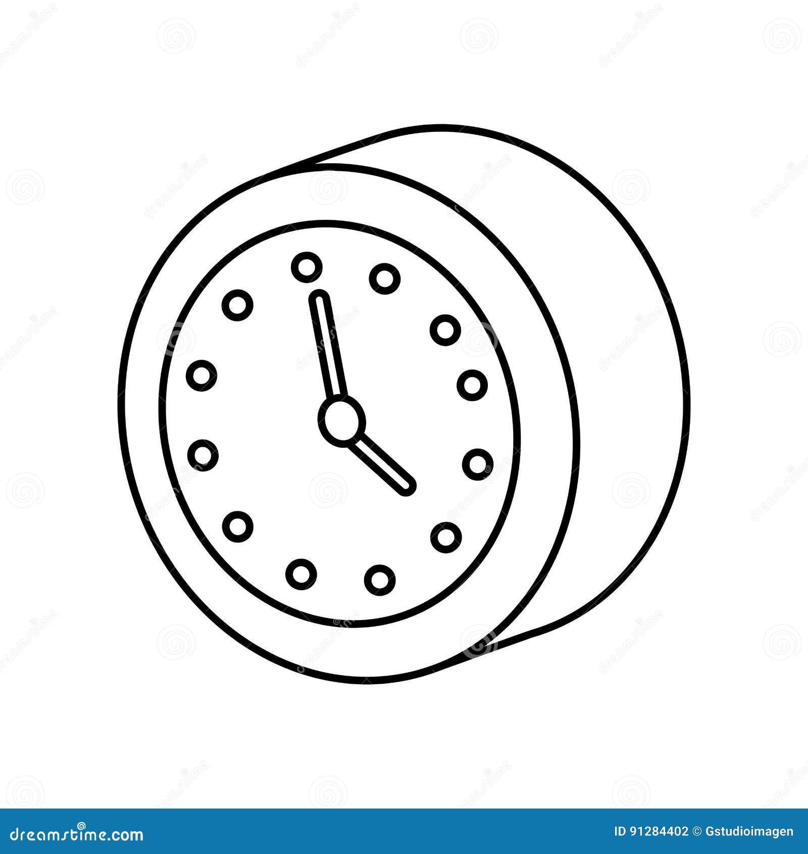 Isolerad symbol för klocka klocka